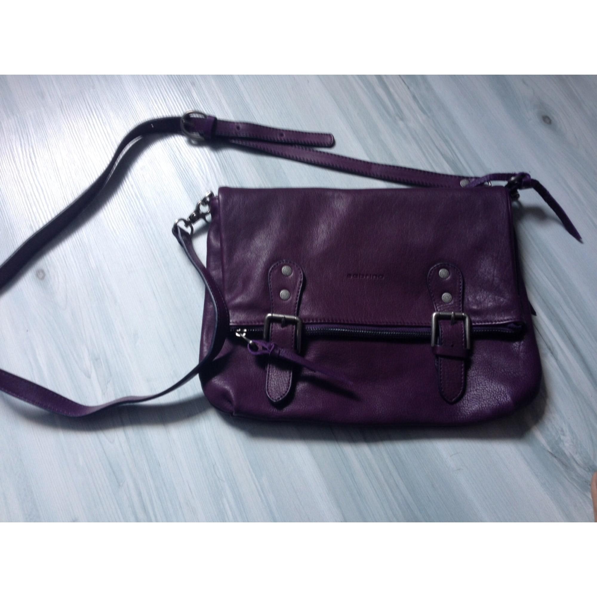 3ee2fb8ae29 Sac en bandoulière en cuir SABRINA violet vendu par Malice  s bags ...