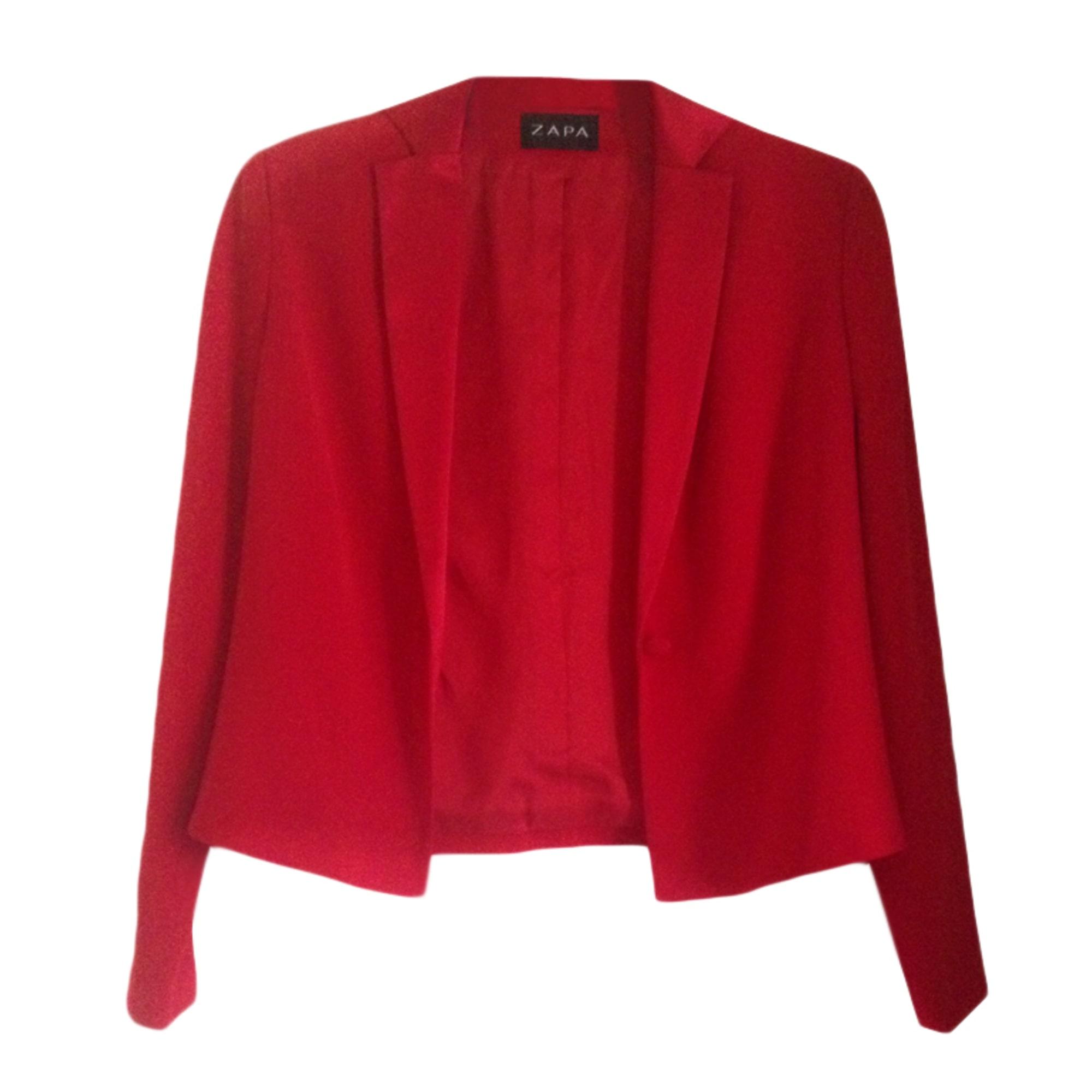 Blazer, veste tailleur ZAPA Rouge, bordeaux