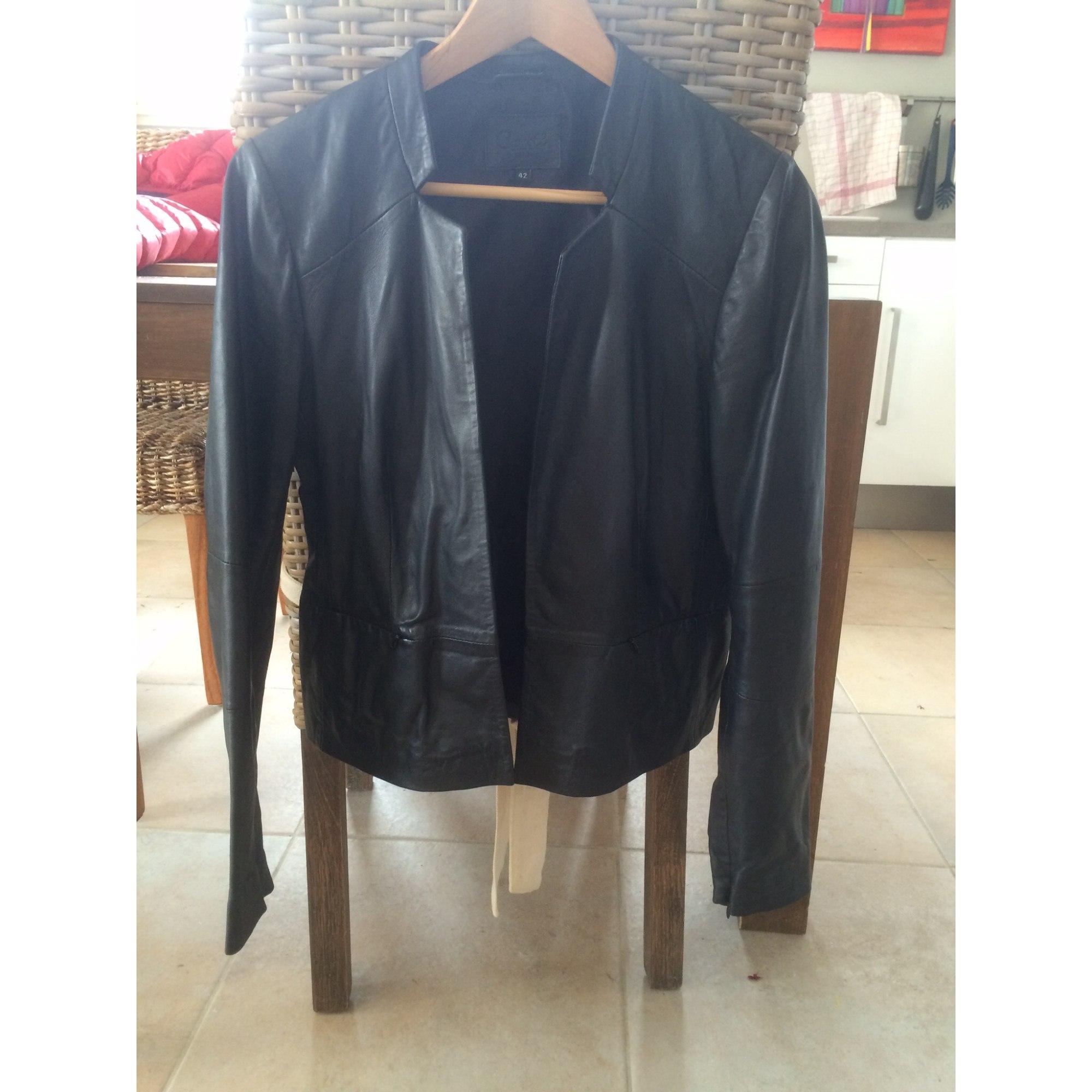Veste en cuir CAROLL 42 (L XL, T4) noir vendu par Starck - 3992266 a670298442d