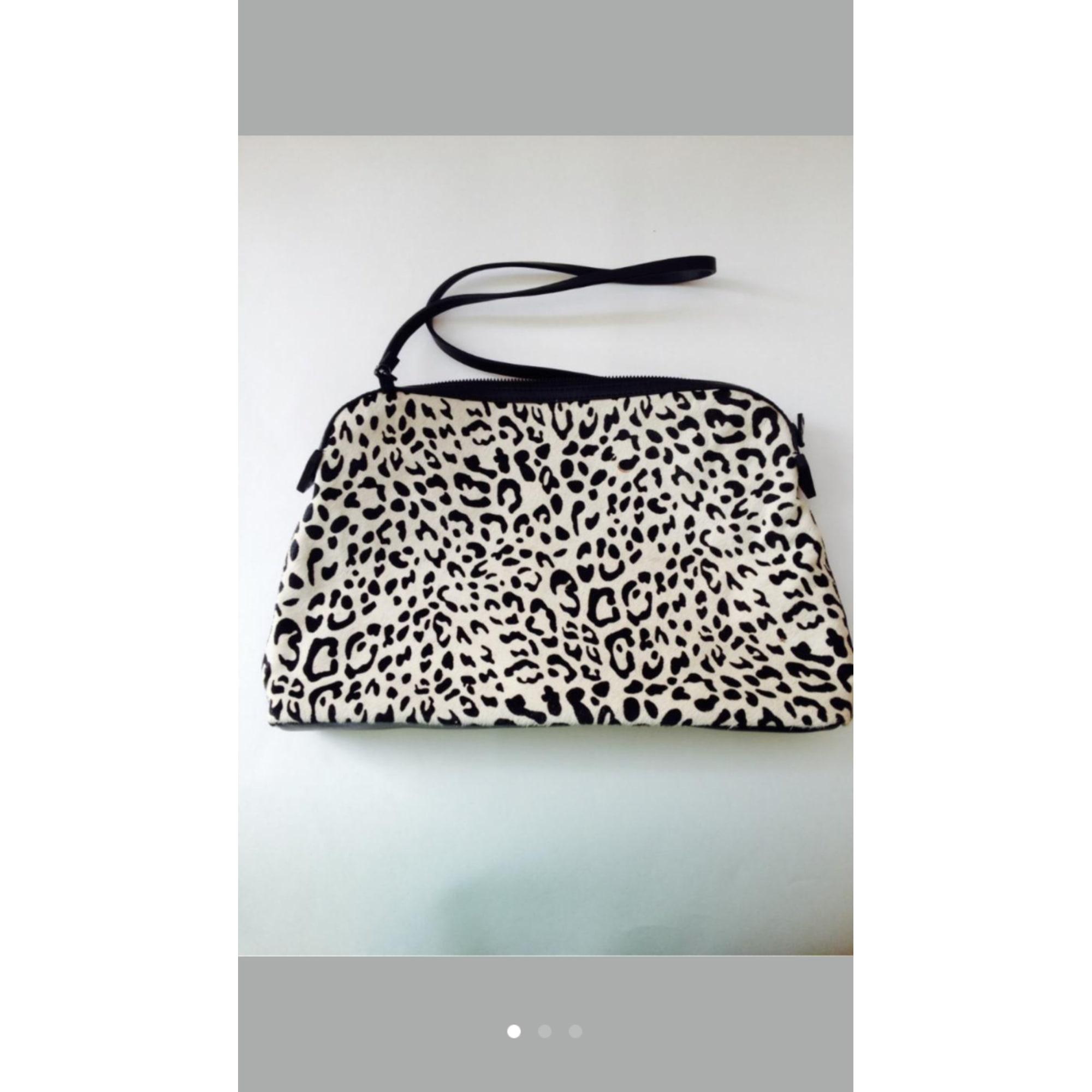 Leather Shoulder Bag ZARA Noir et blanc