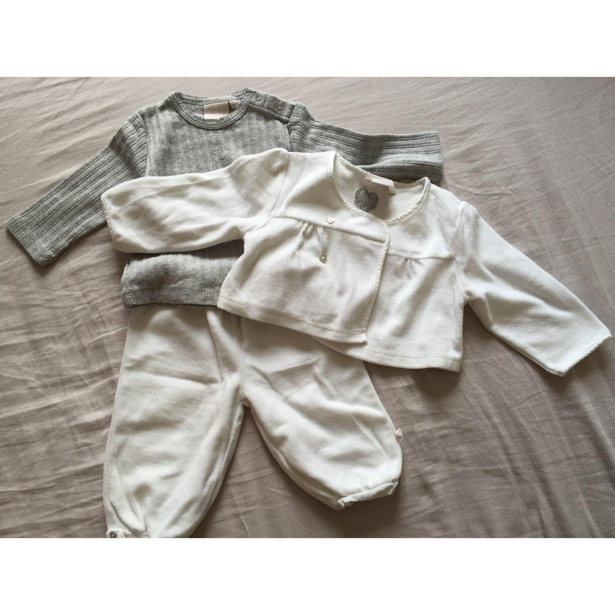 2c79fa0158ded Ensemble & Combinaison pantalon NOUKIES Blanc, blanc cassé, écru