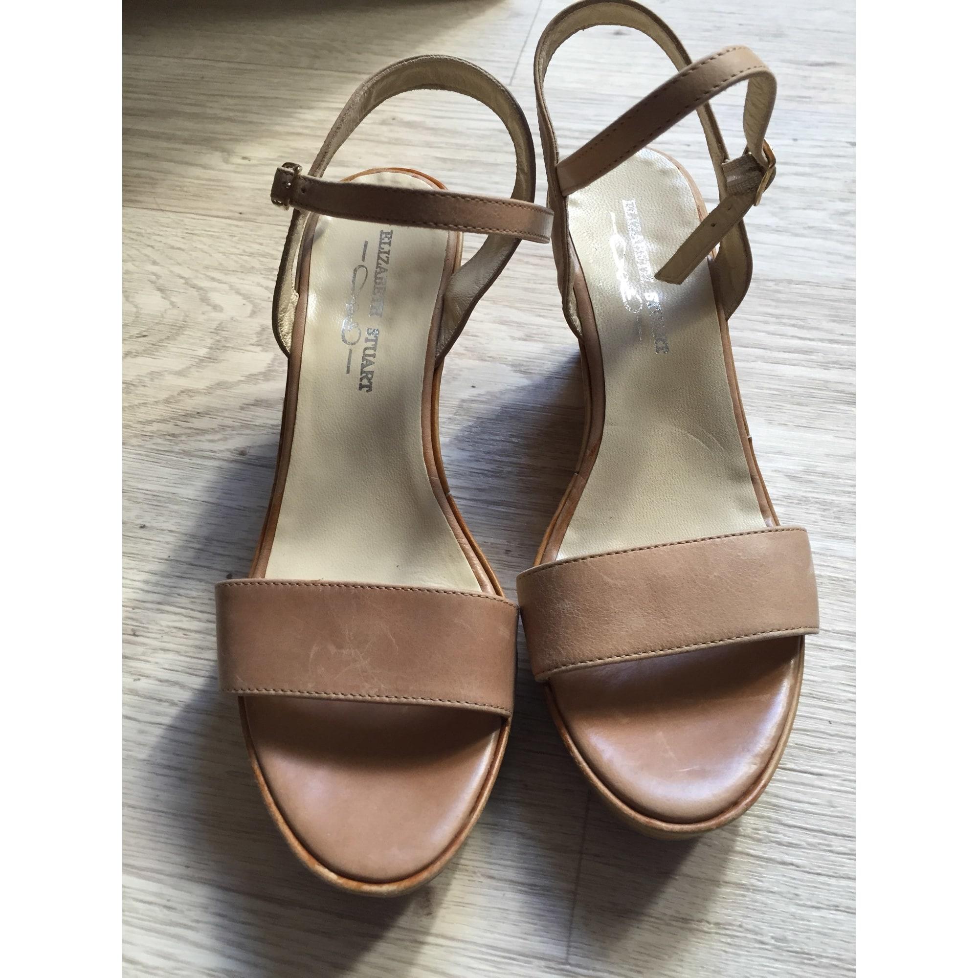 Sandales 36 Elizabeth Stuart Beige Compensées 4024138 OukXZiPT