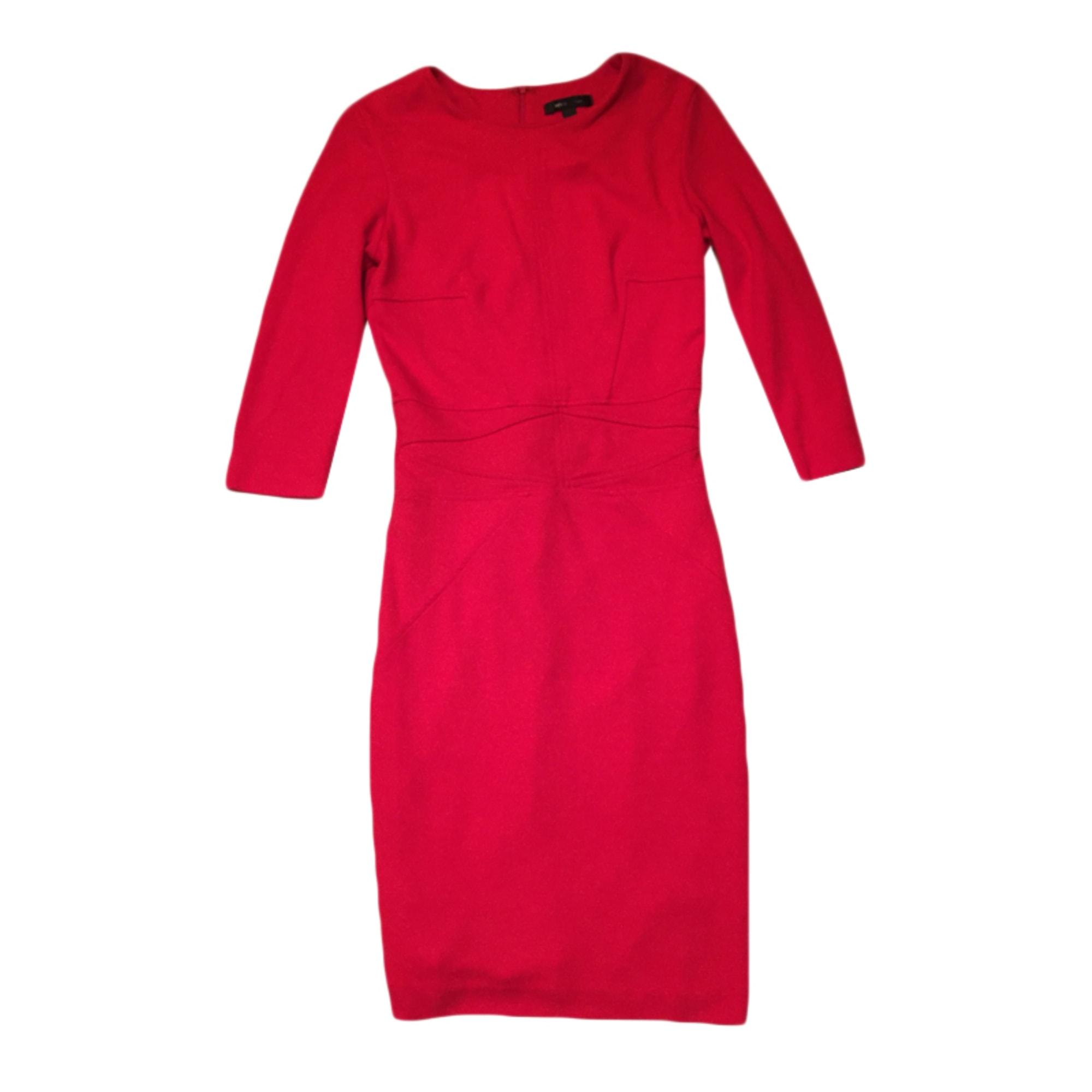 Robe courte MANGO 34 (XS, T0) rouge - 4028016 514b01e0e22b