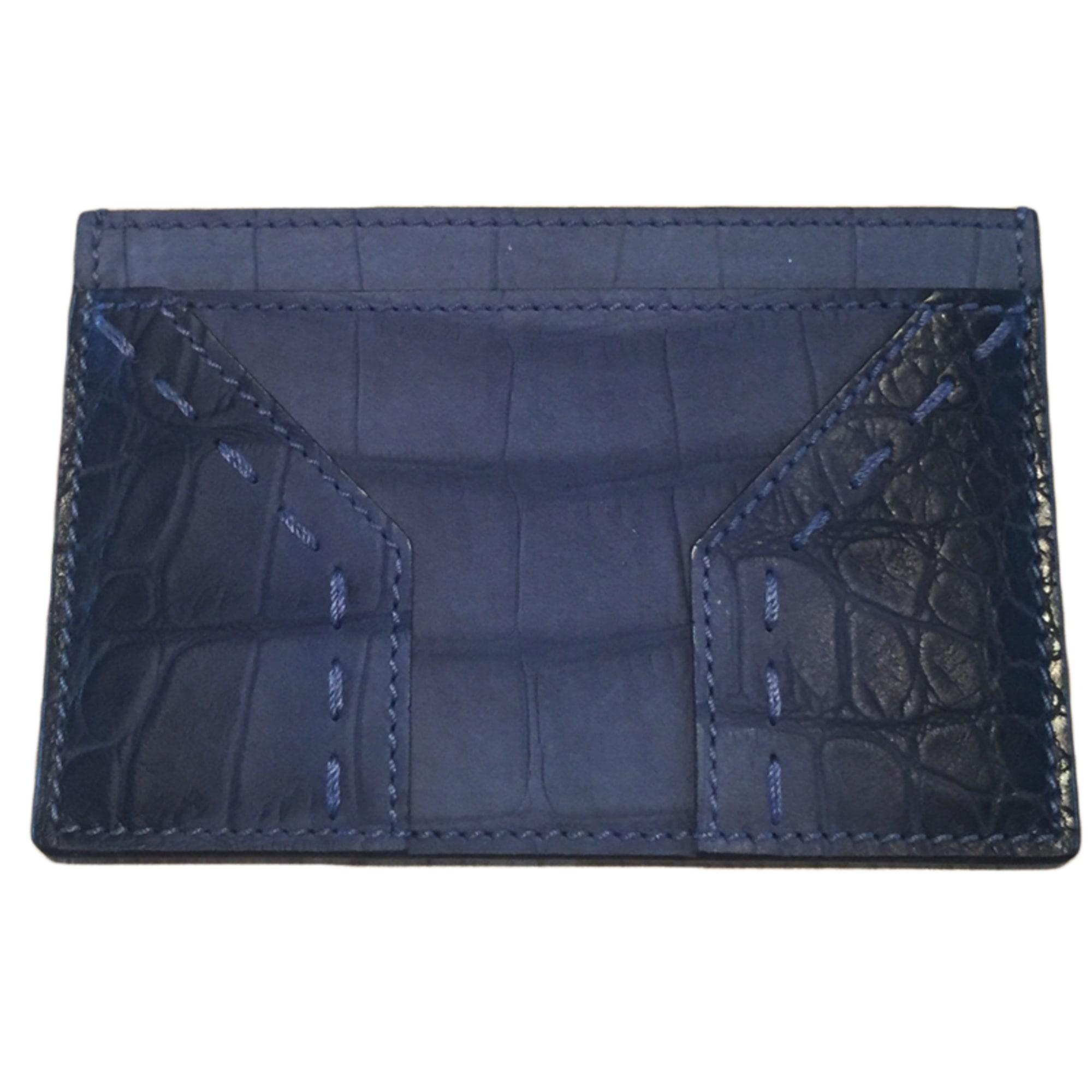 porte cartes yves saint laurent bleu gris vendu par. Black Bedroom Furniture Sets. Home Design Ideas