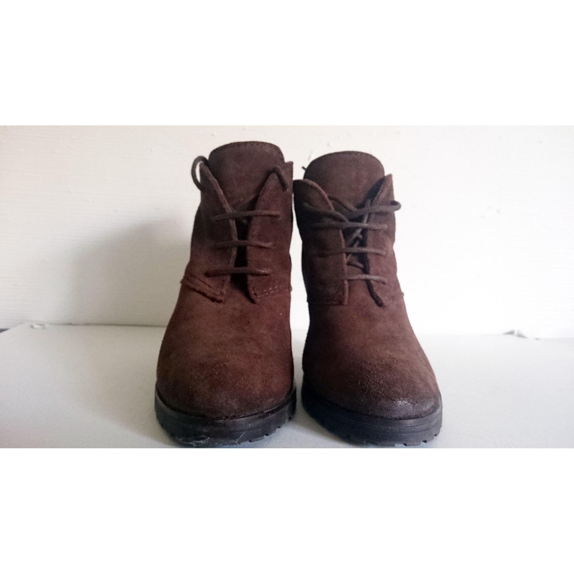 43307f6f01bf9 Bottines   low boots à talons MANGO 39 marron - 4053556