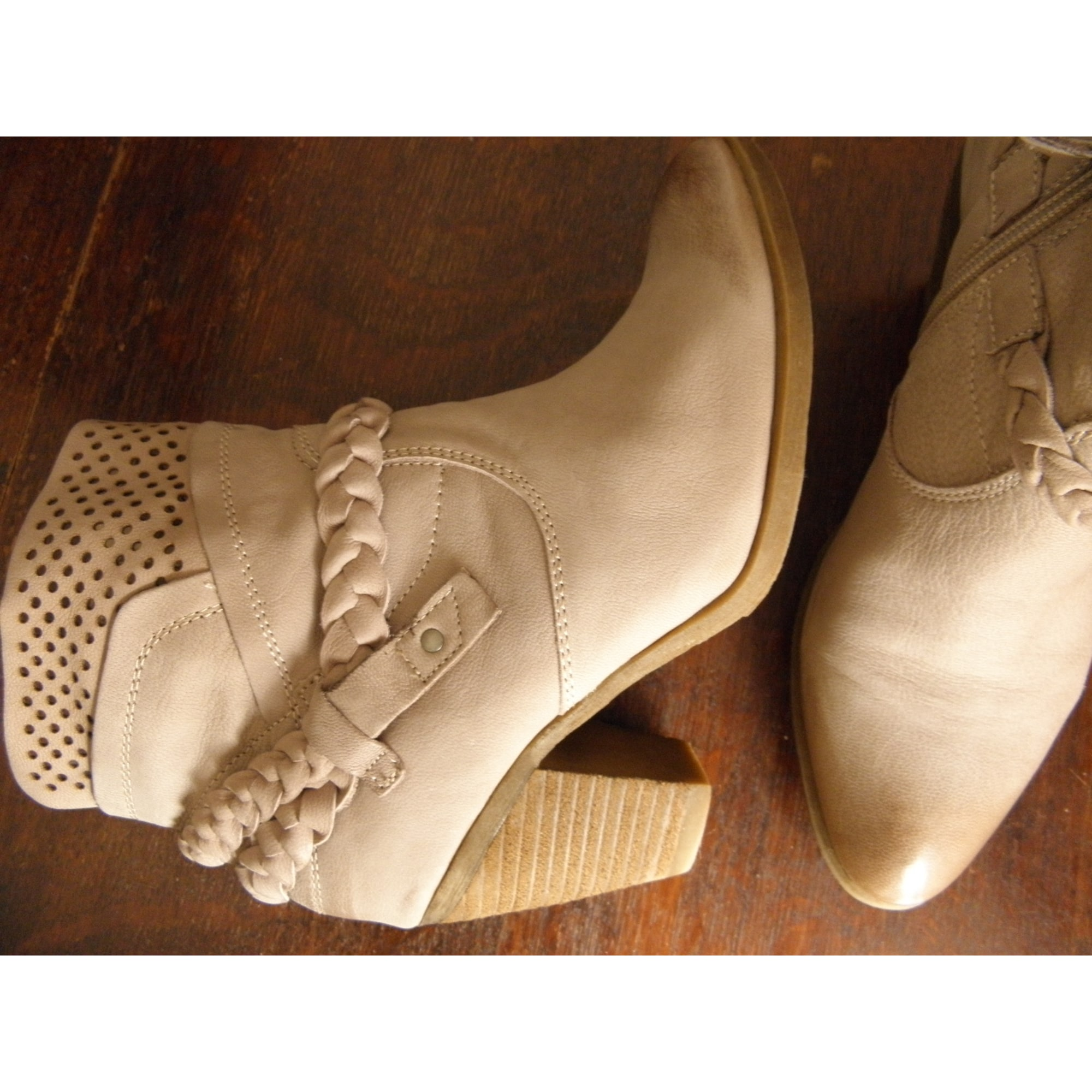 50e7175f0f19ad Bottines & low boots à talons ANDREA CONTI Blanc, blanc cassé, écru