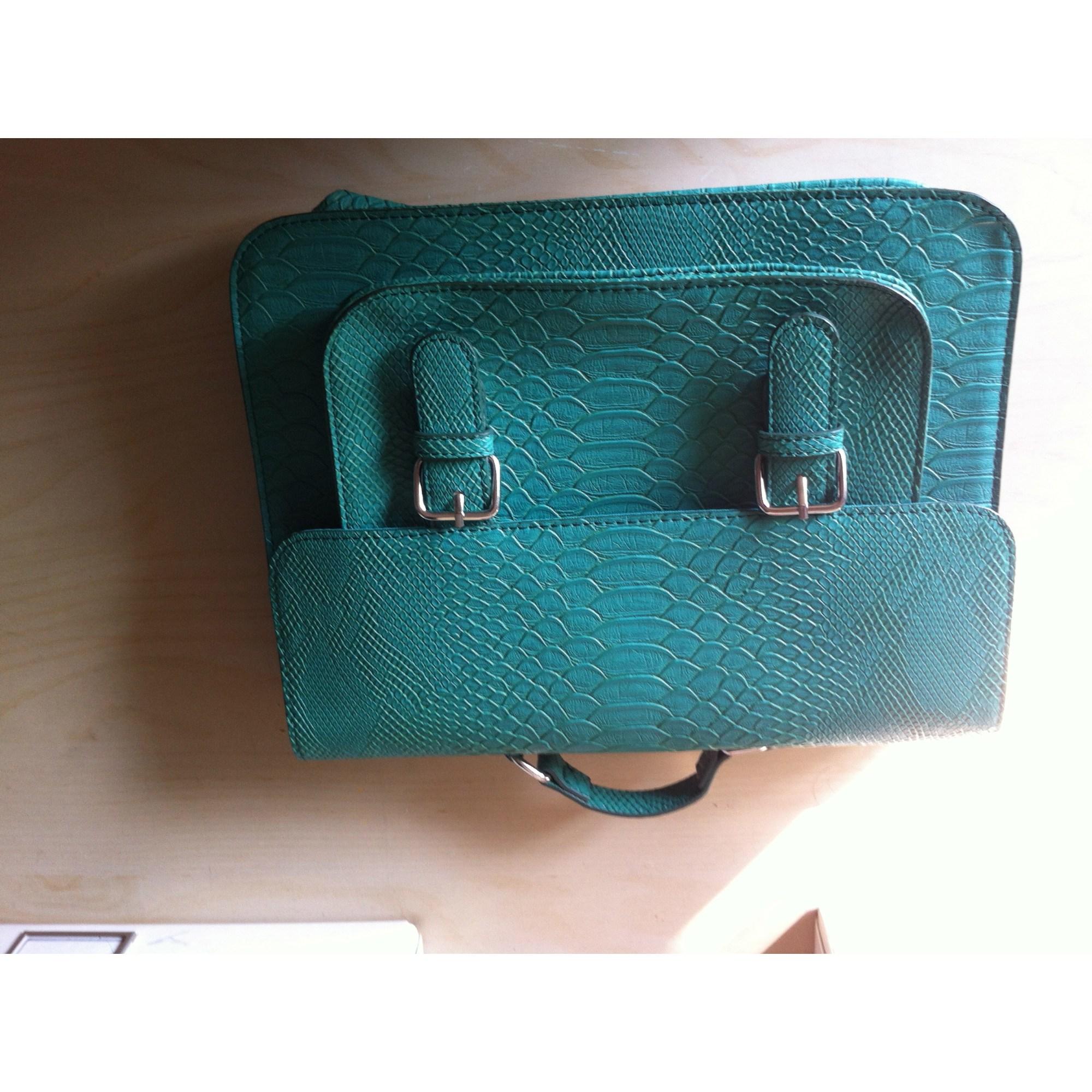 d2691f70f336 Sac en bandoulière en cuir MONOPRIX vert vendu par De villeneuve ...