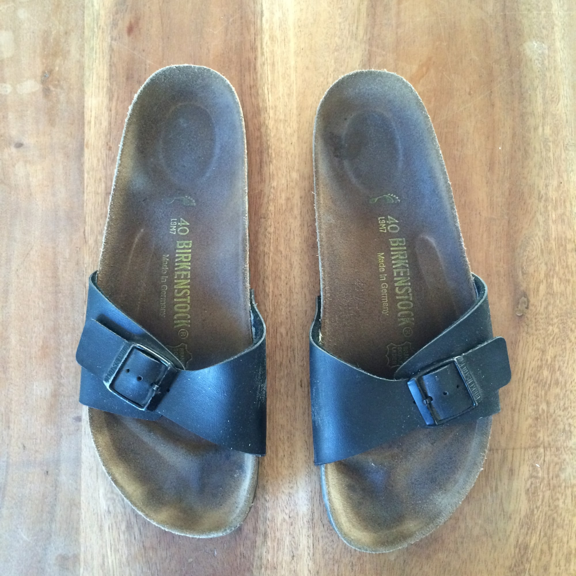 Sandales plates  BIRKENSTOCK Noir