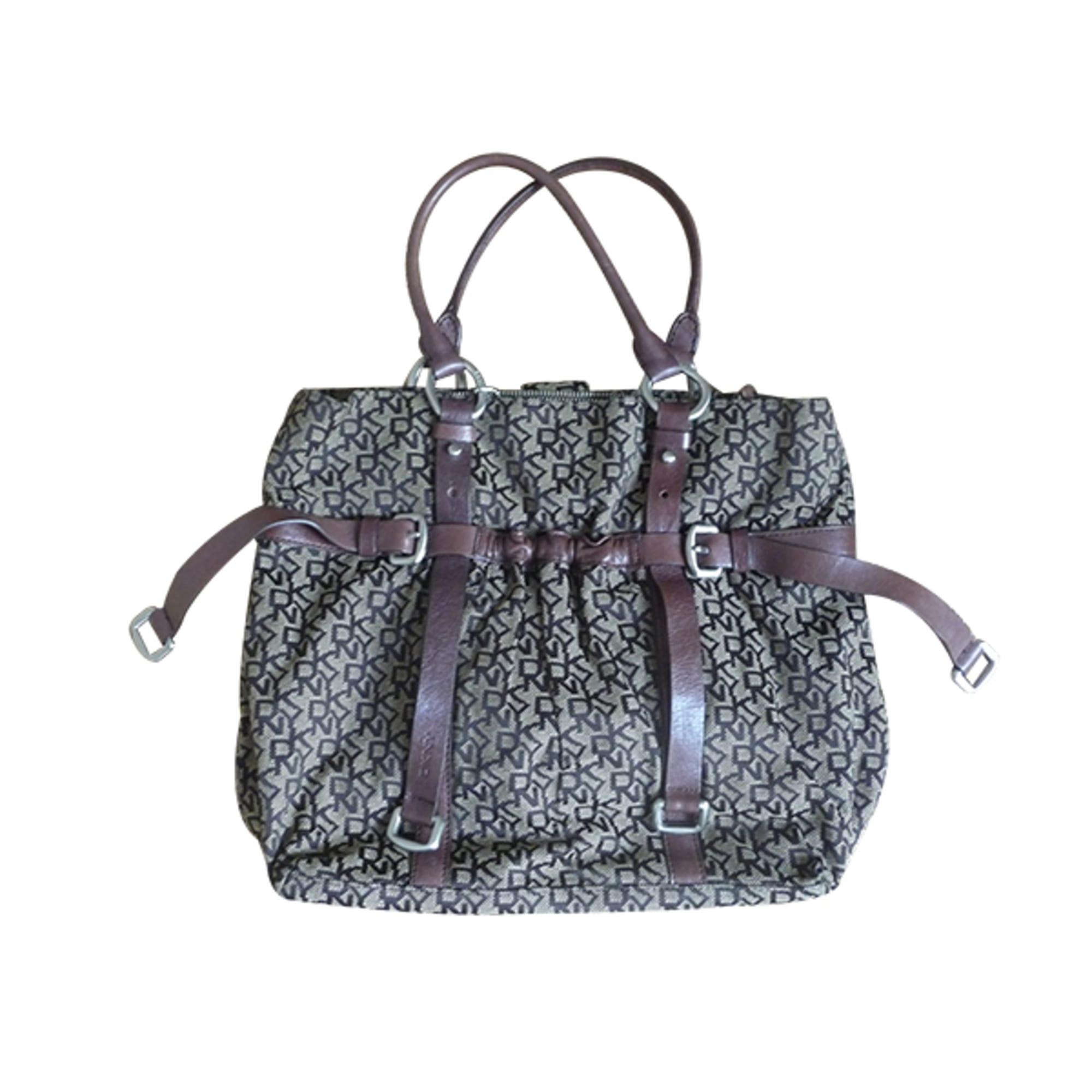 sac main en tissu donna donna karan marron 4183441. Black Bedroom Furniture Sets. Home Design Ideas