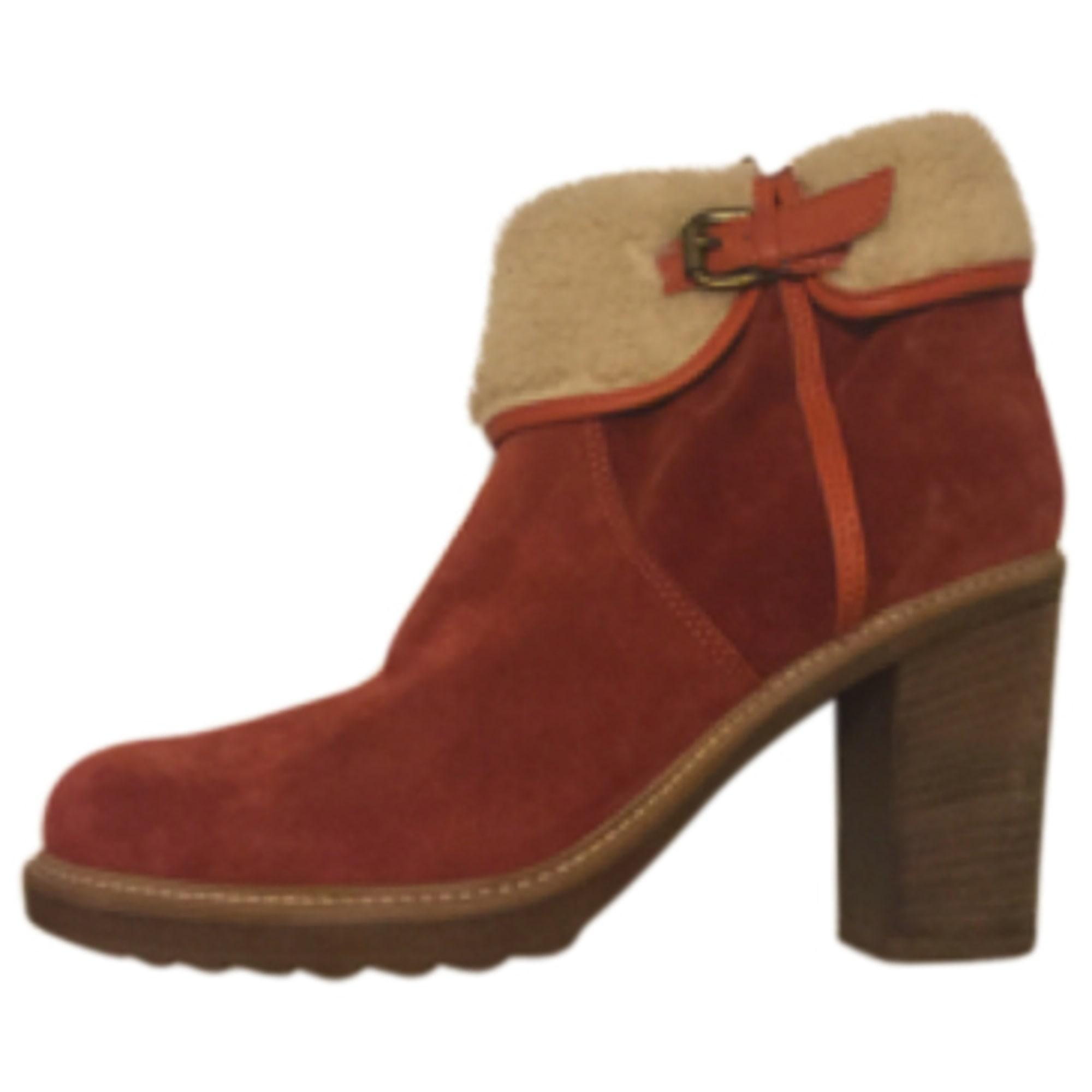 À 40 Rouge Bottinesamp; Low Minelli 4198442 Boots Talons 8vmnOyNP0w