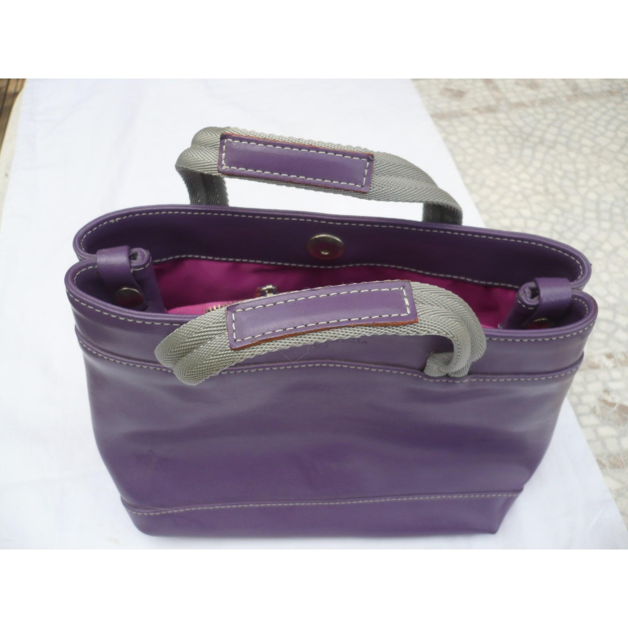 Sac à main en cuir UN APRES-MIDI DE CHIEN cuir violet