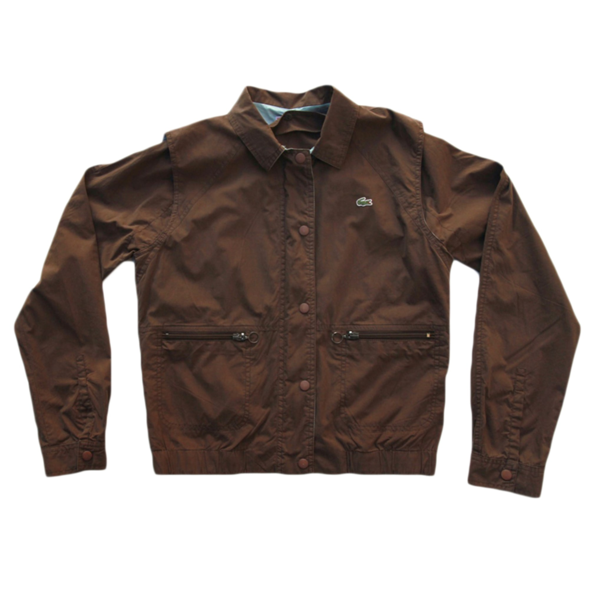 Zipped Jacket LACOSTE Brown