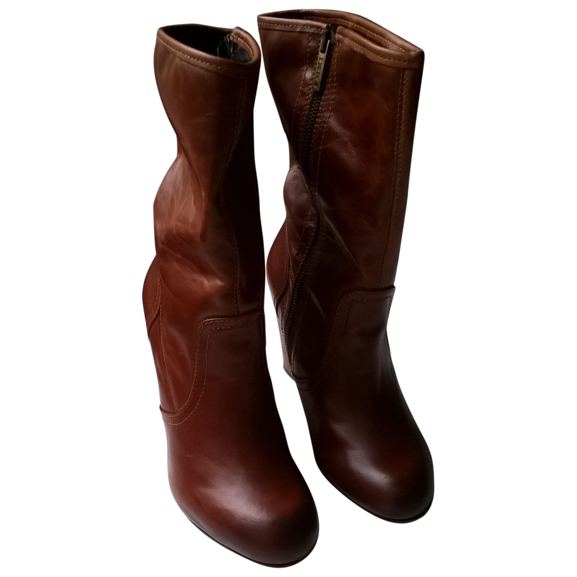 1e580000d76 Bottines   low boots à talons IKKS 38 marron vendu par Lolo 5213 ...