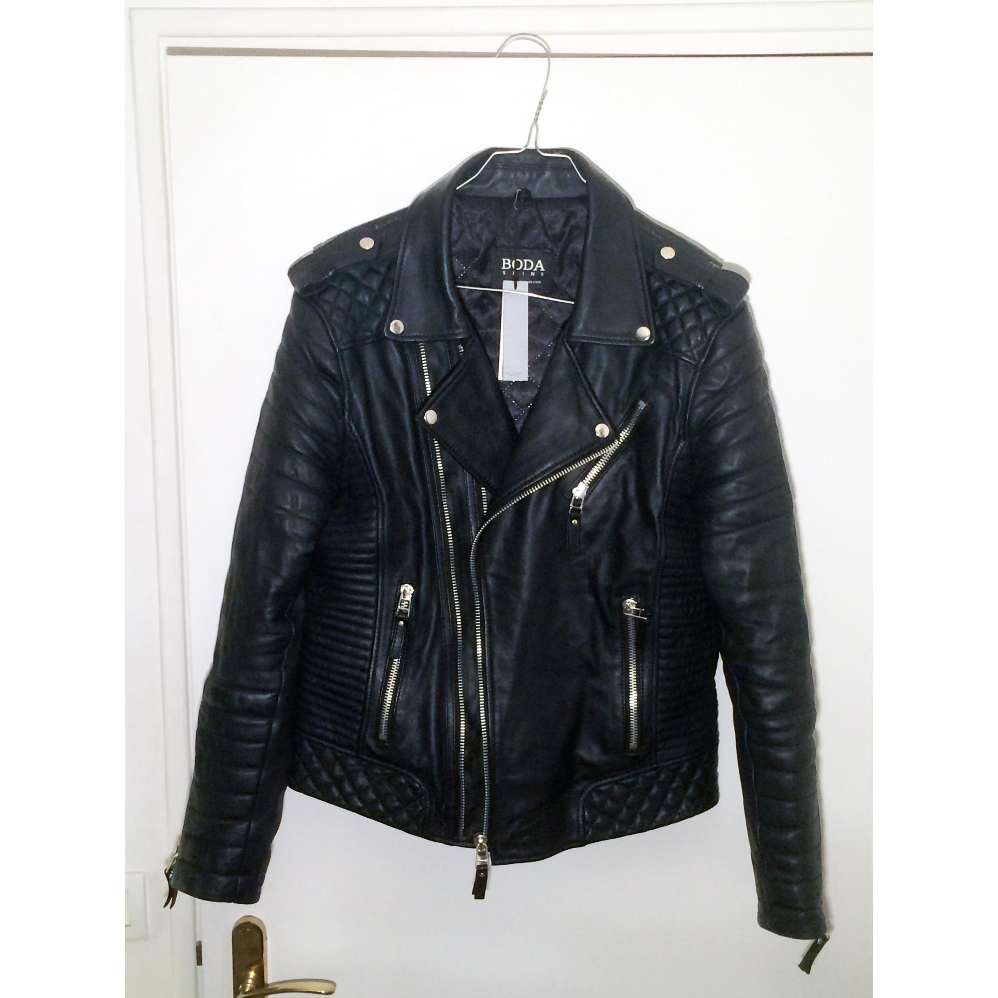Veste en cuir BODA SKINS 52 (L) noir vendu par Maxorio - 4232809 1140eb820b2