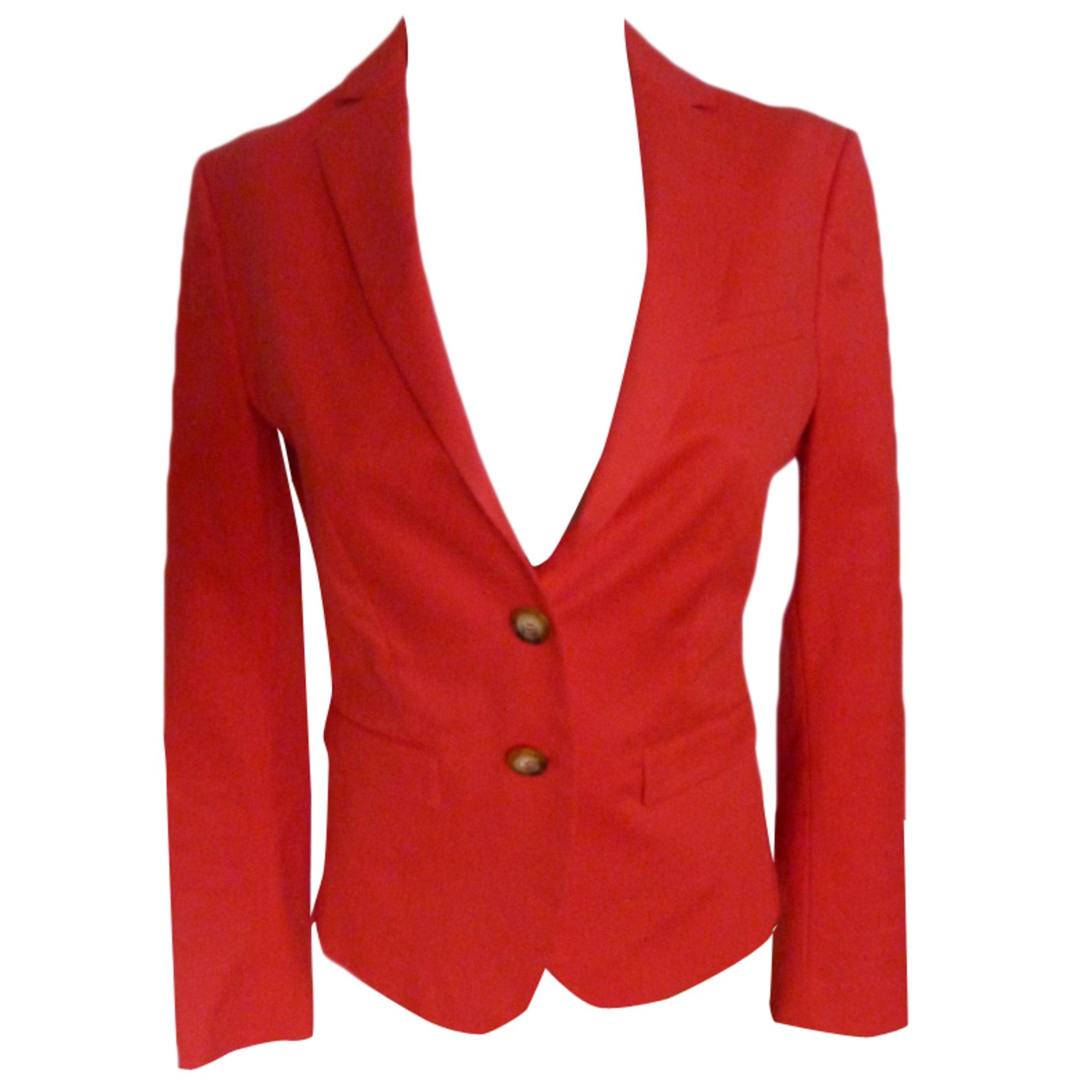 Blazer, veste tailleur UNITED COLORS OF BENETTON 36 (S, T1) rouge ... f772543d4ac4