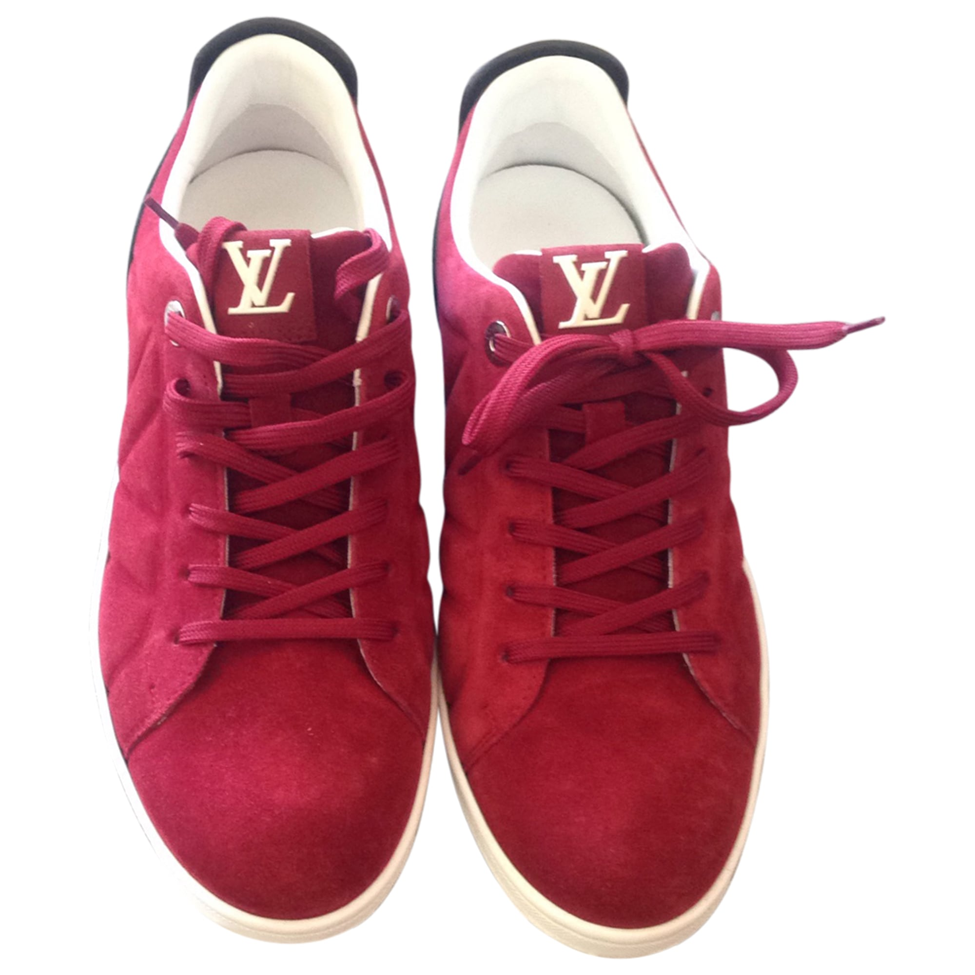 Baskets LOUIS VUITTON 40,5 rouge vendu par Linezoline - 4269059 90e36273972
