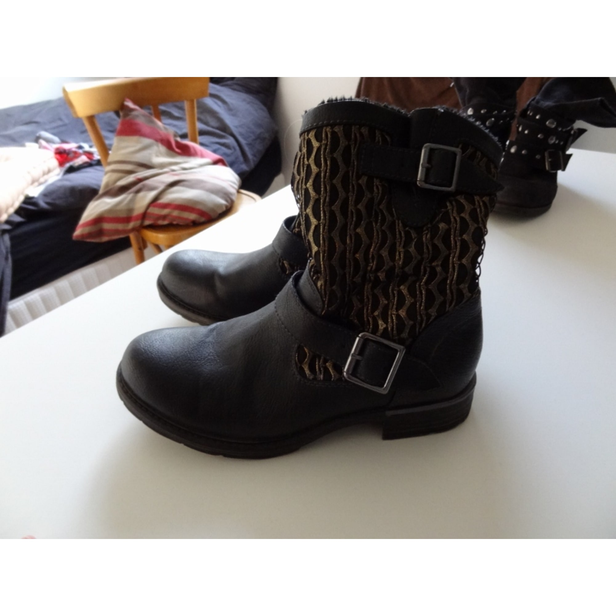 Bottines & low boots plates