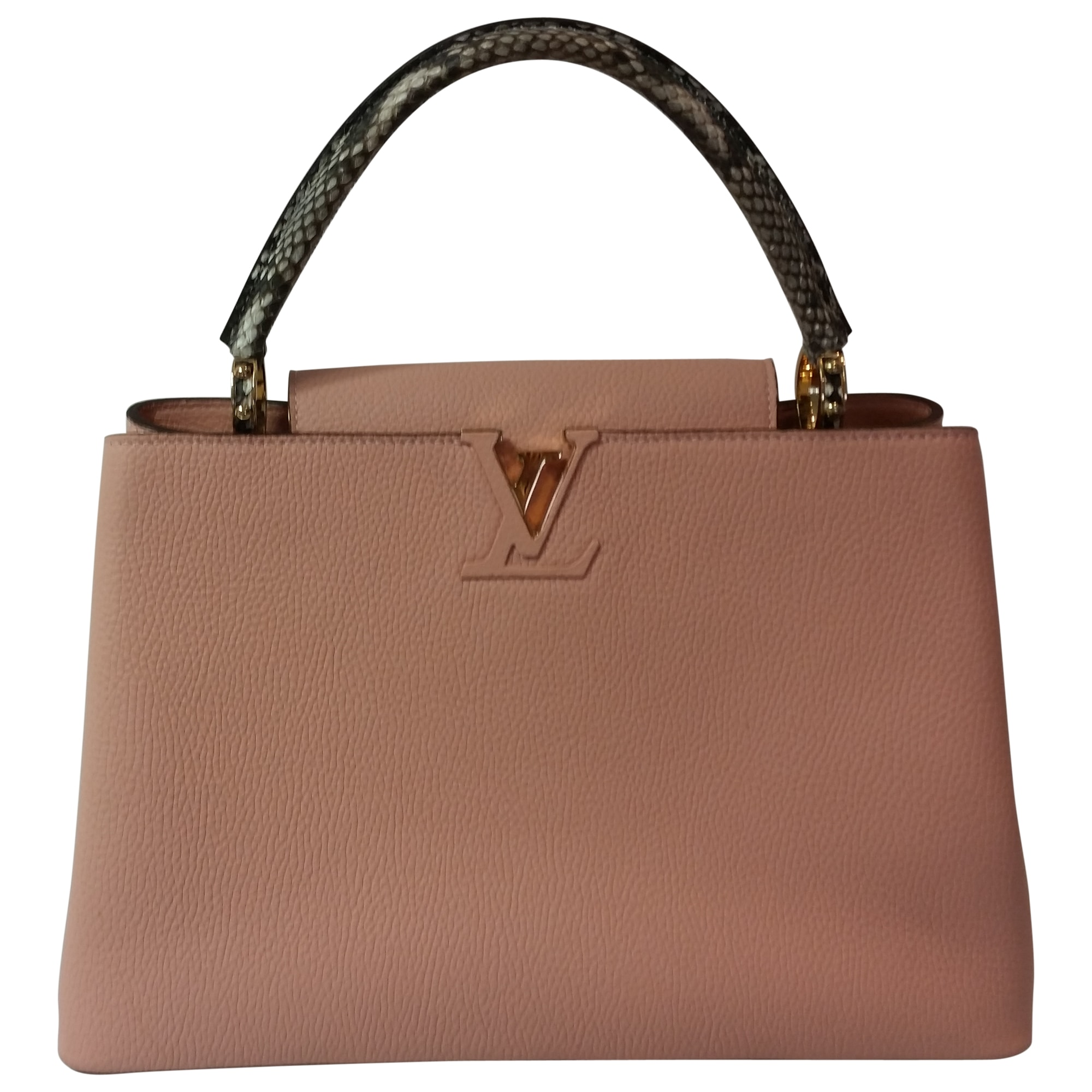 b0abc502a088 Sac à main en cuir LOUIS VUITTON Capucines Rose, fuschia, vieux rose