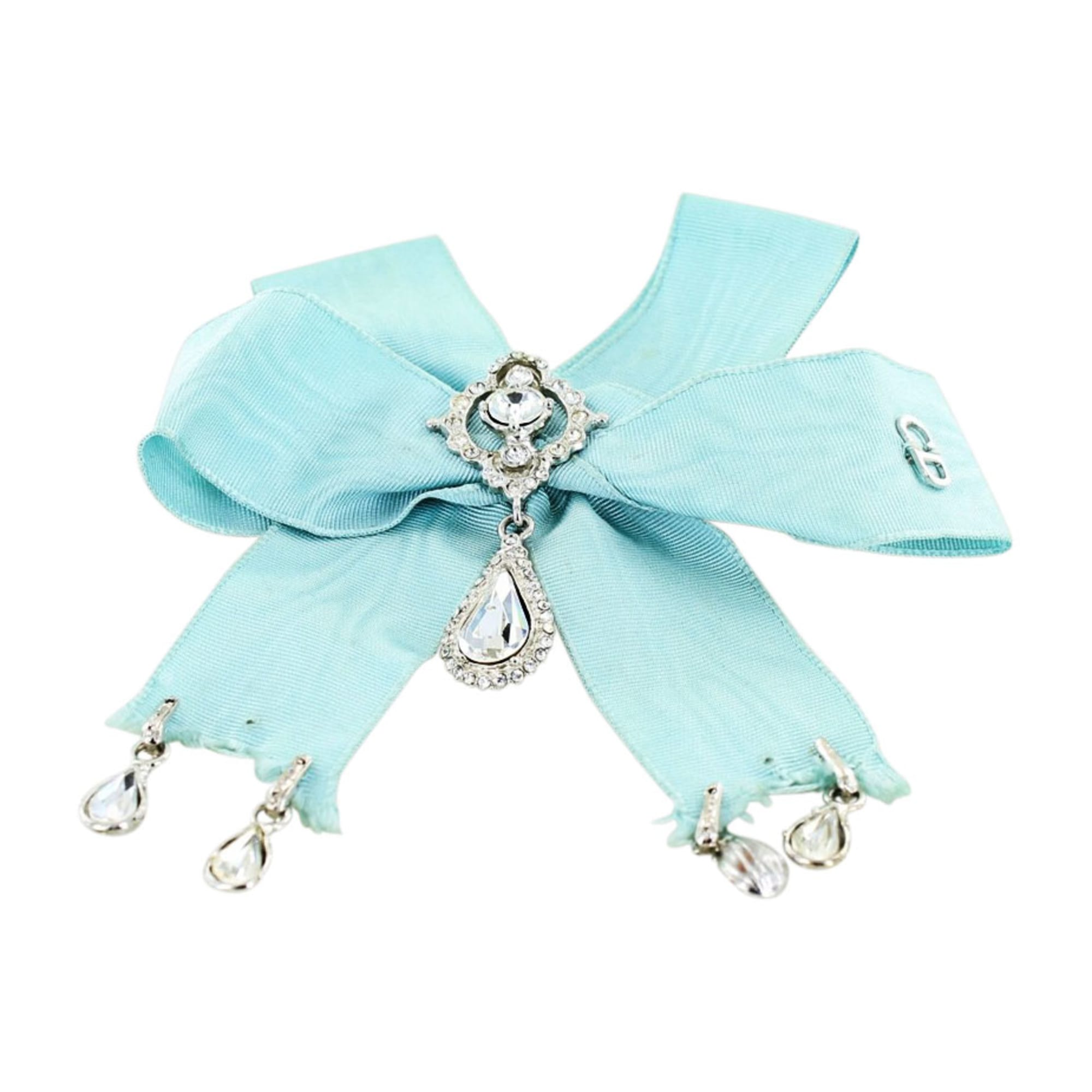 Broche DIOR Bleu, bleu marine, bleu turquoise