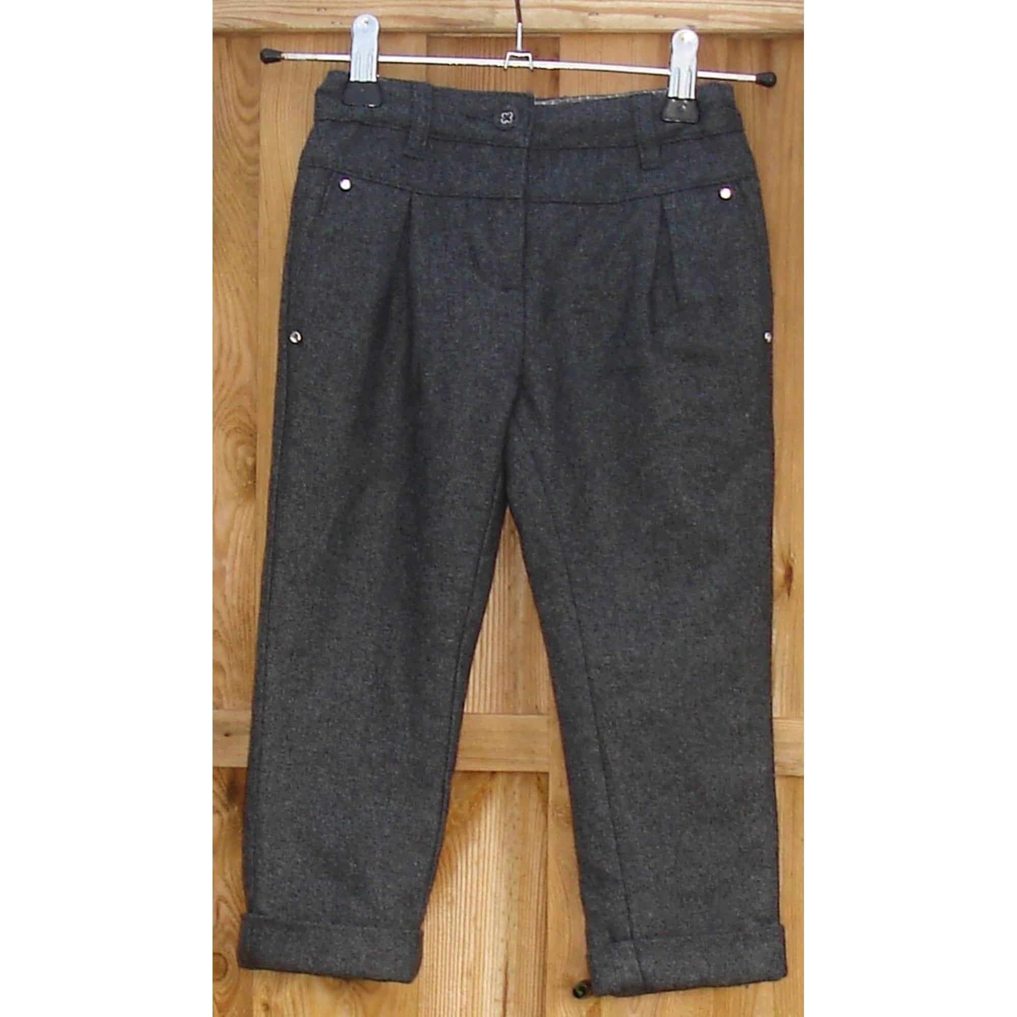Pantalon CYRILLUS Gris, anthracite