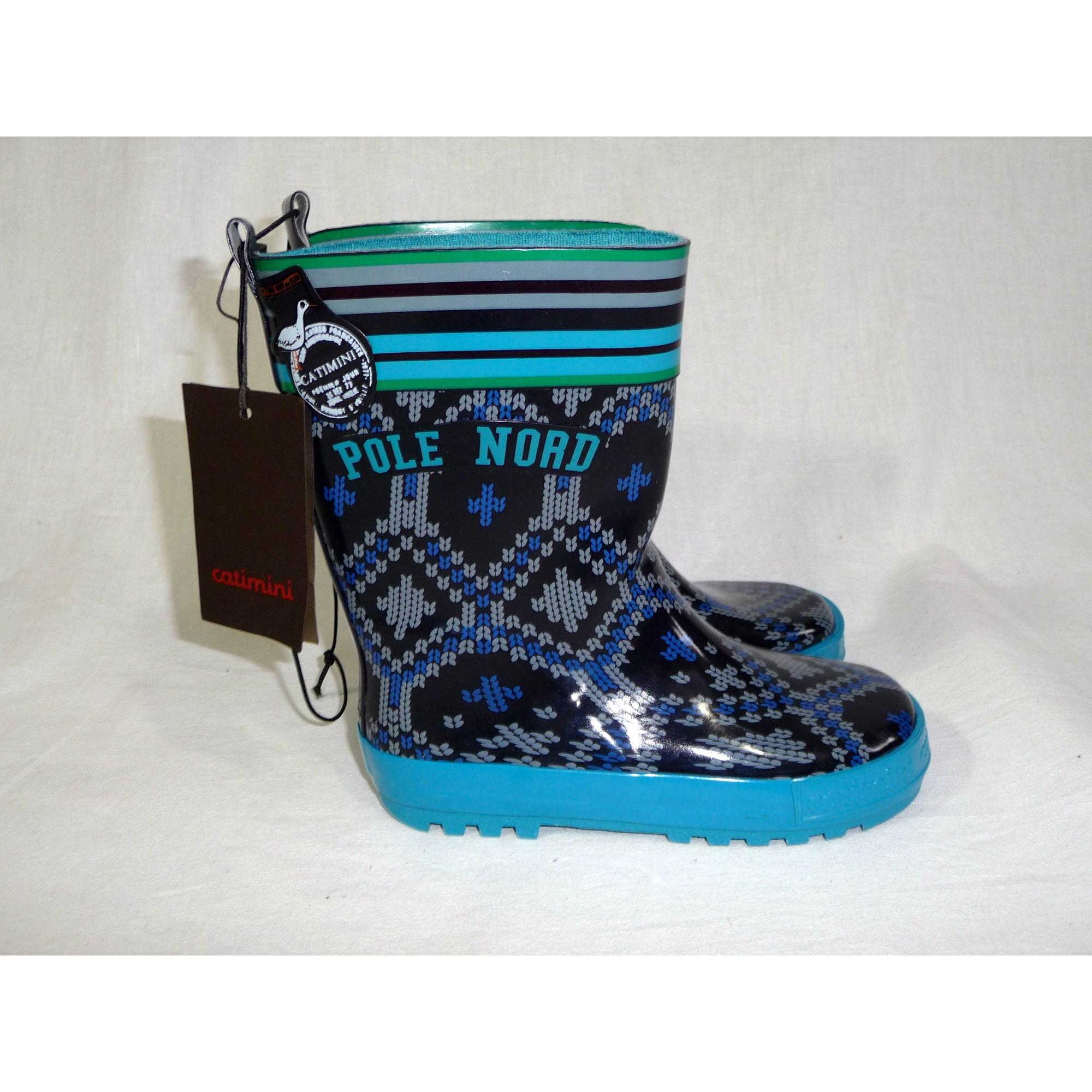 Bottes de pluie CATIMINI caoutchouc bleu 29