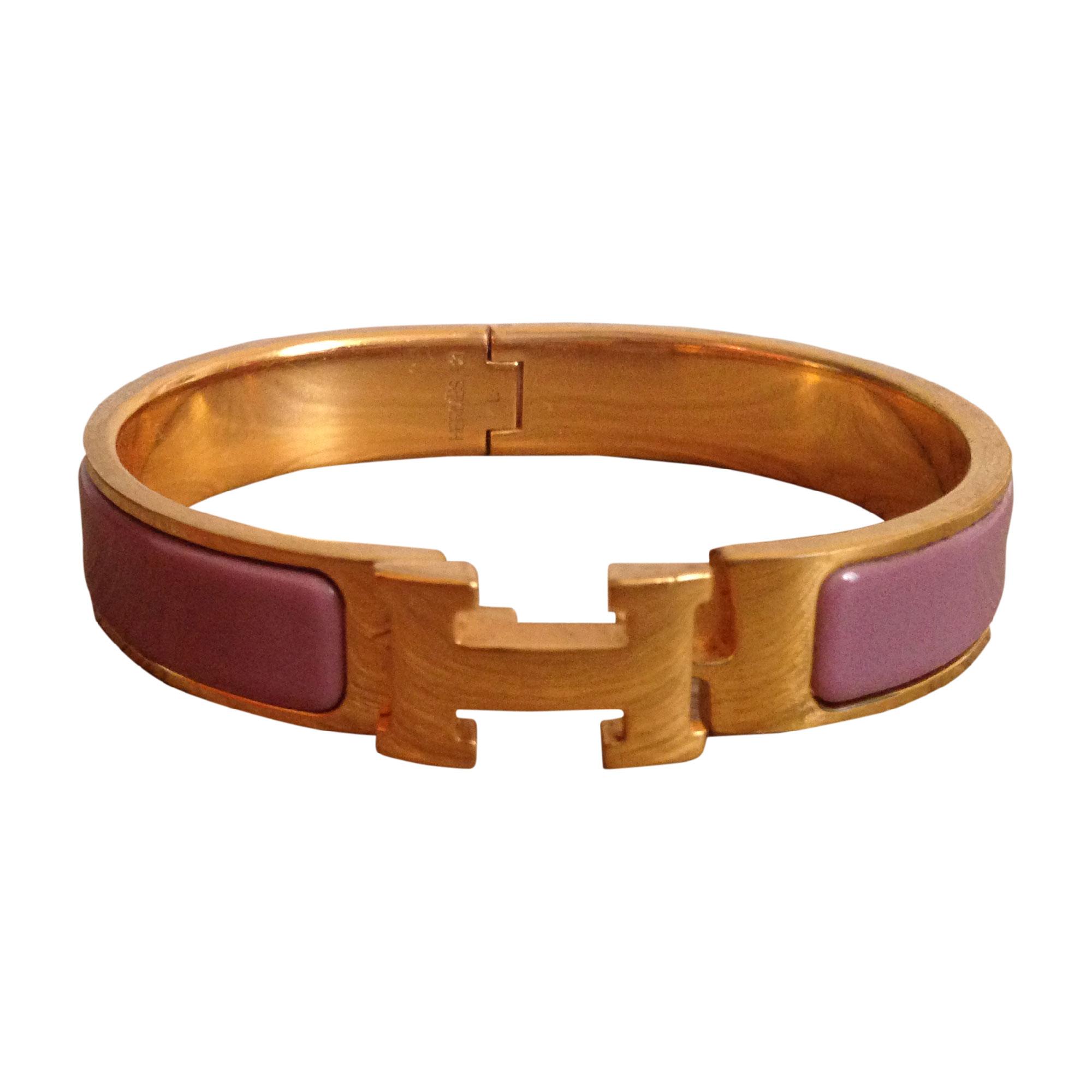 18c2a5307700 Bracelet HERMÈS Clic H Violet, mauve, lavande