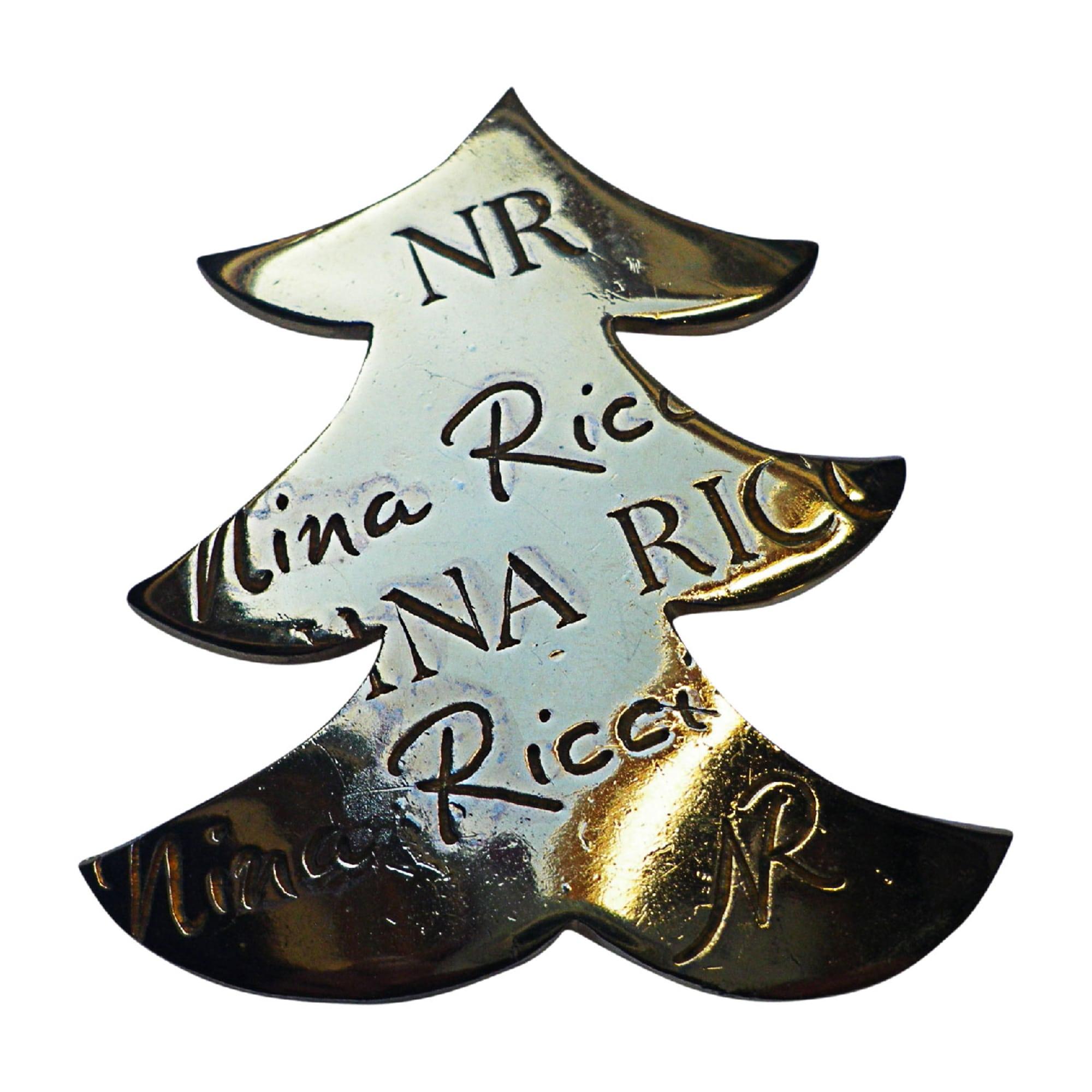 Broche NINA RICCI métal doré