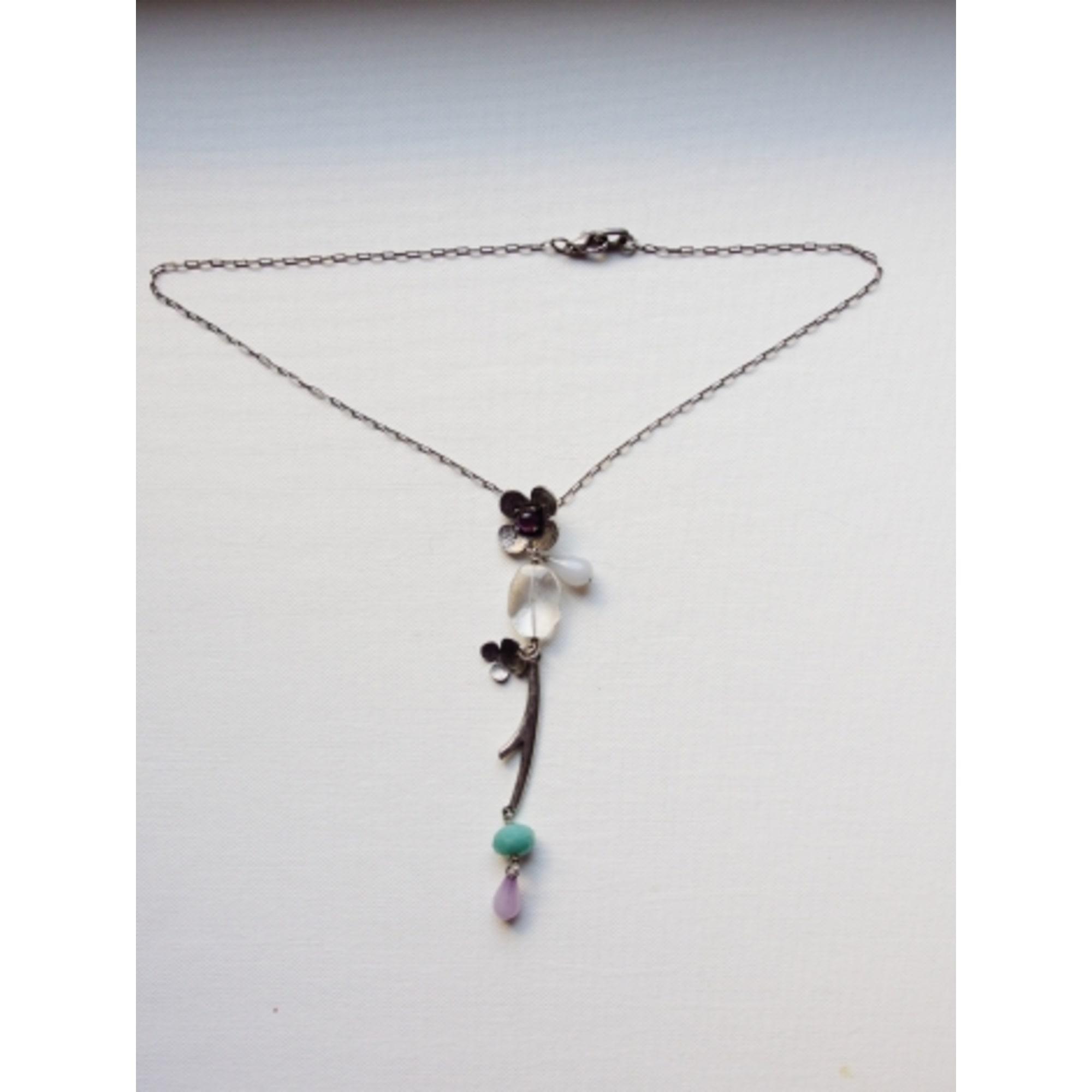Pendentif, collier pendentif DELPHINE NARDIN  pierres multicolore