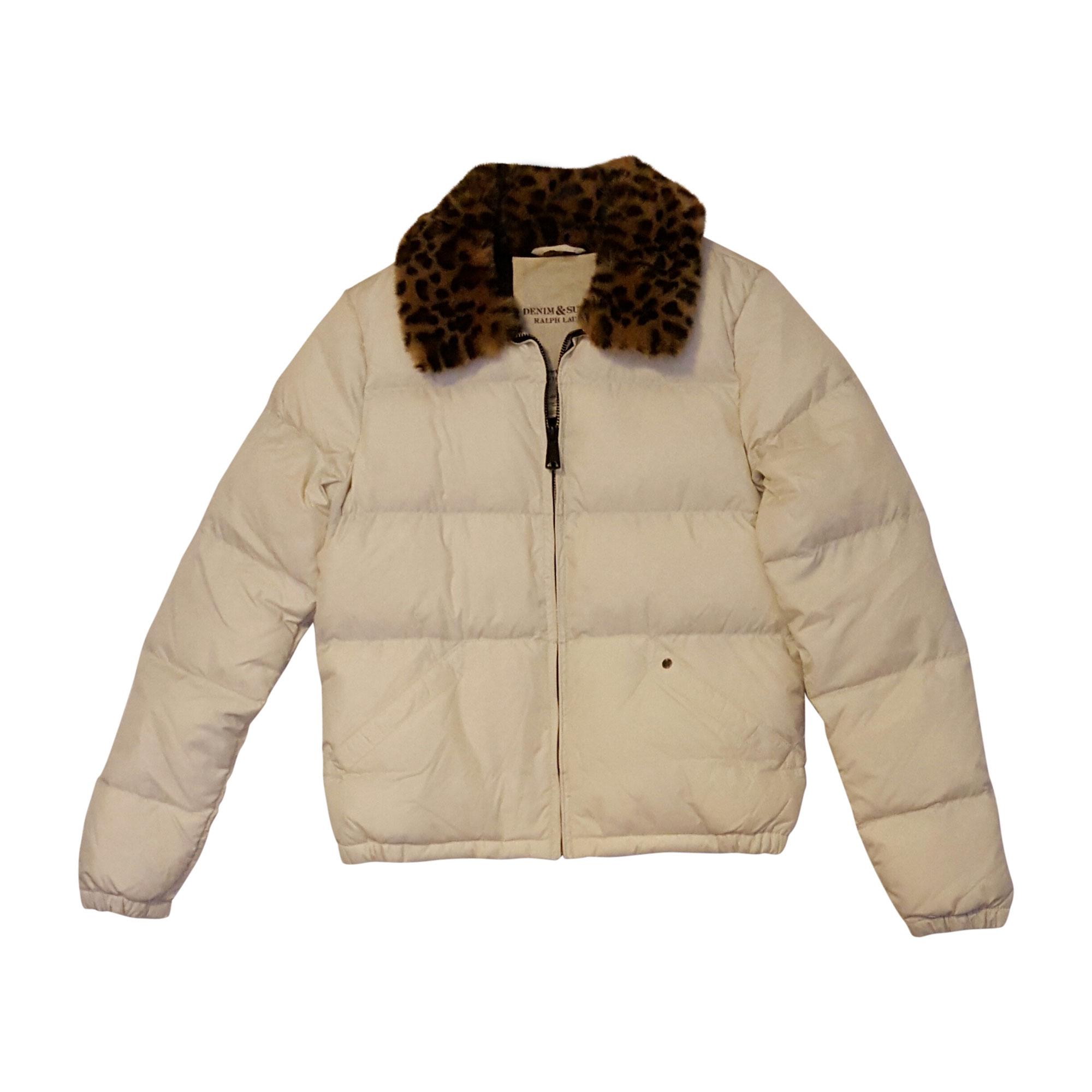 Manteau doudoune Ralph Lauren blanc cassé