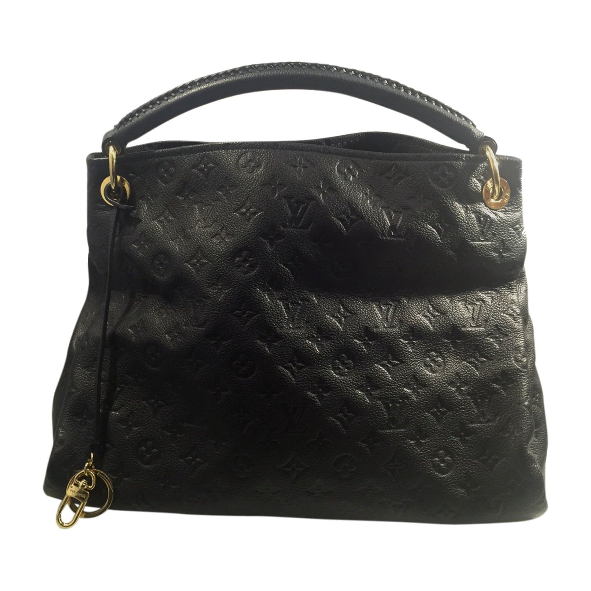 a37dc8b7e38 Sac à main en cuir LOUIS VUITTON artsy noir vendu par Cash web lille ...