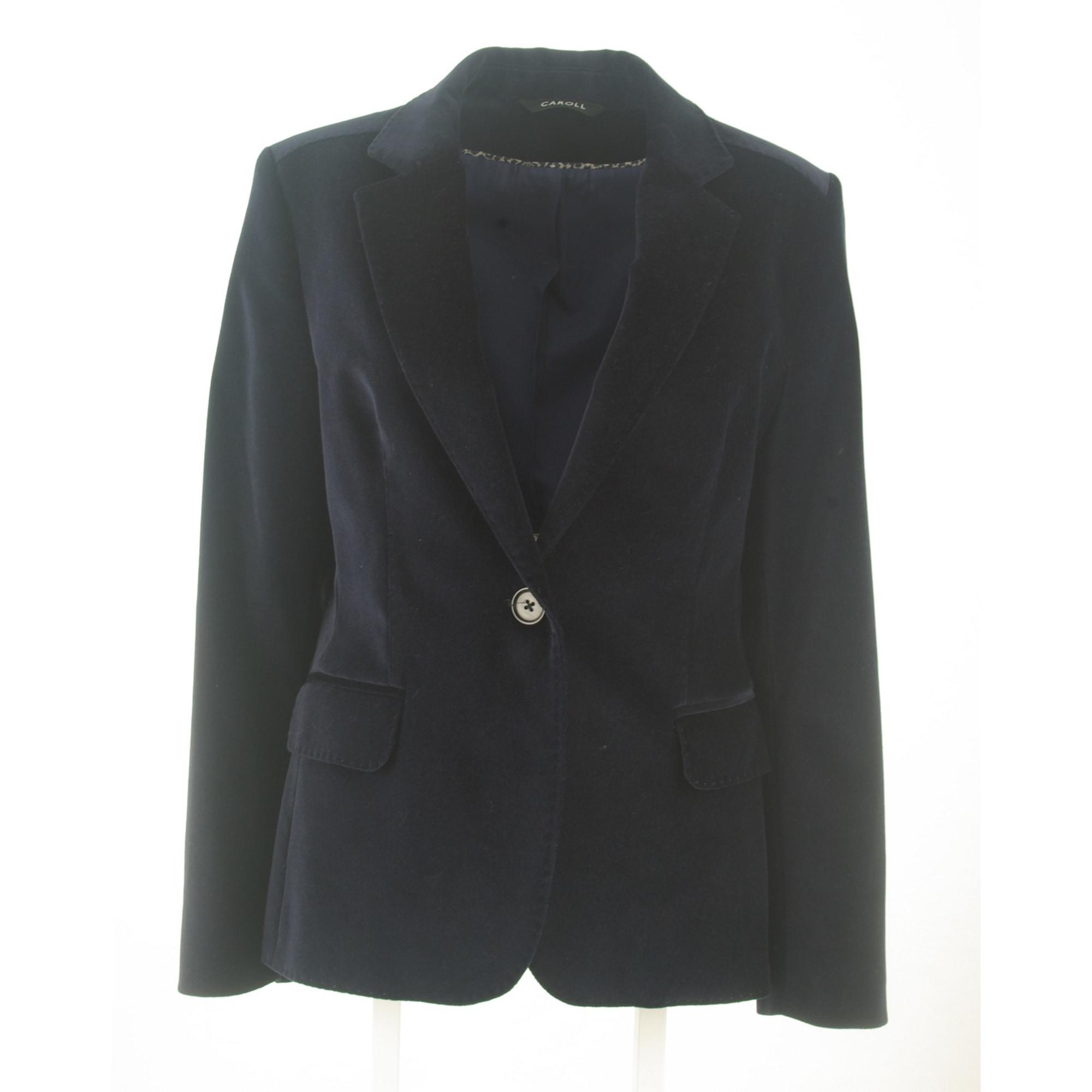 Veste CAROLL 42 (L XL, T4) bleu vendu par Le vide-dressing du 30m2 ... 838d71721d6