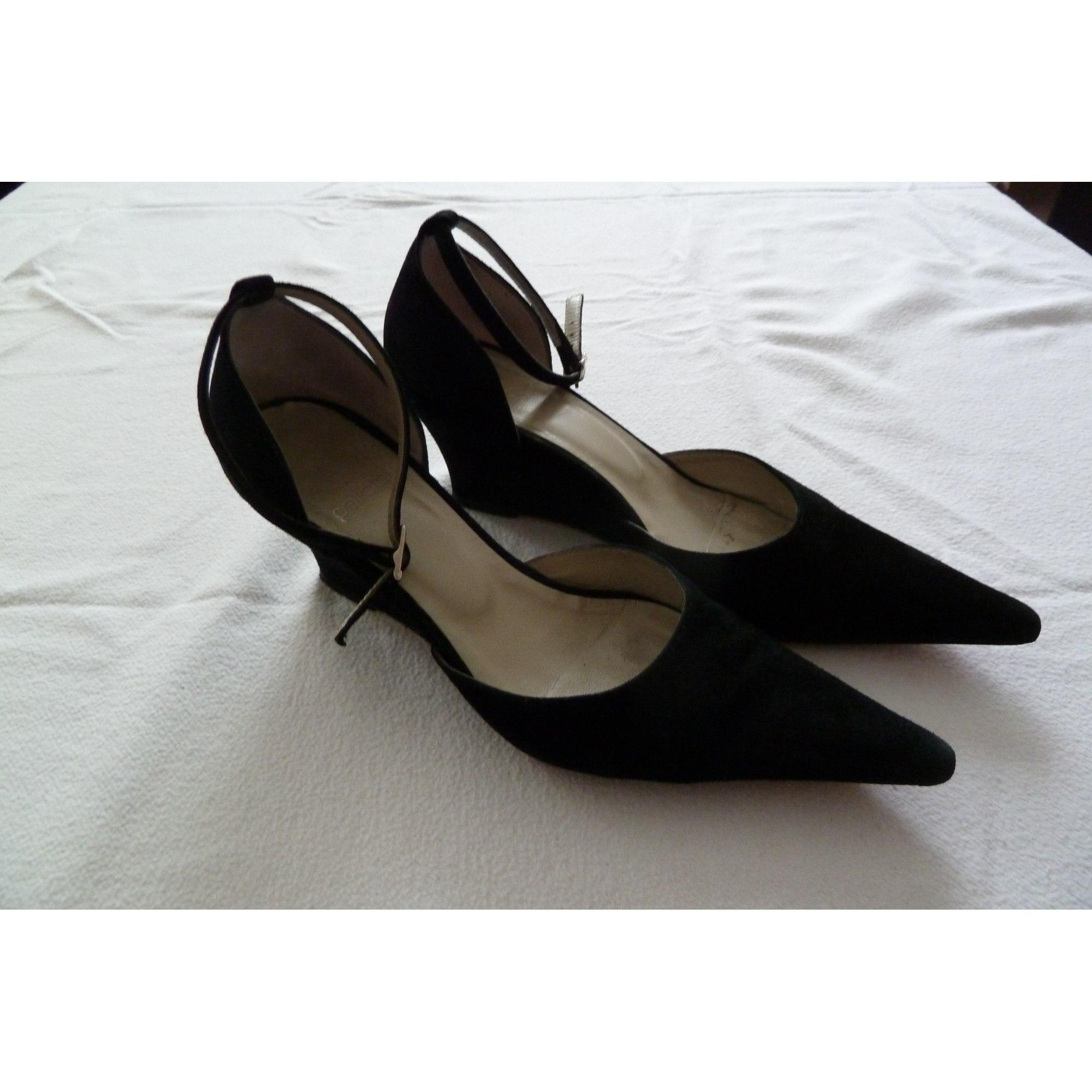 36 4473159 Noir Escarpins Perlato Compensés wk0O8nP