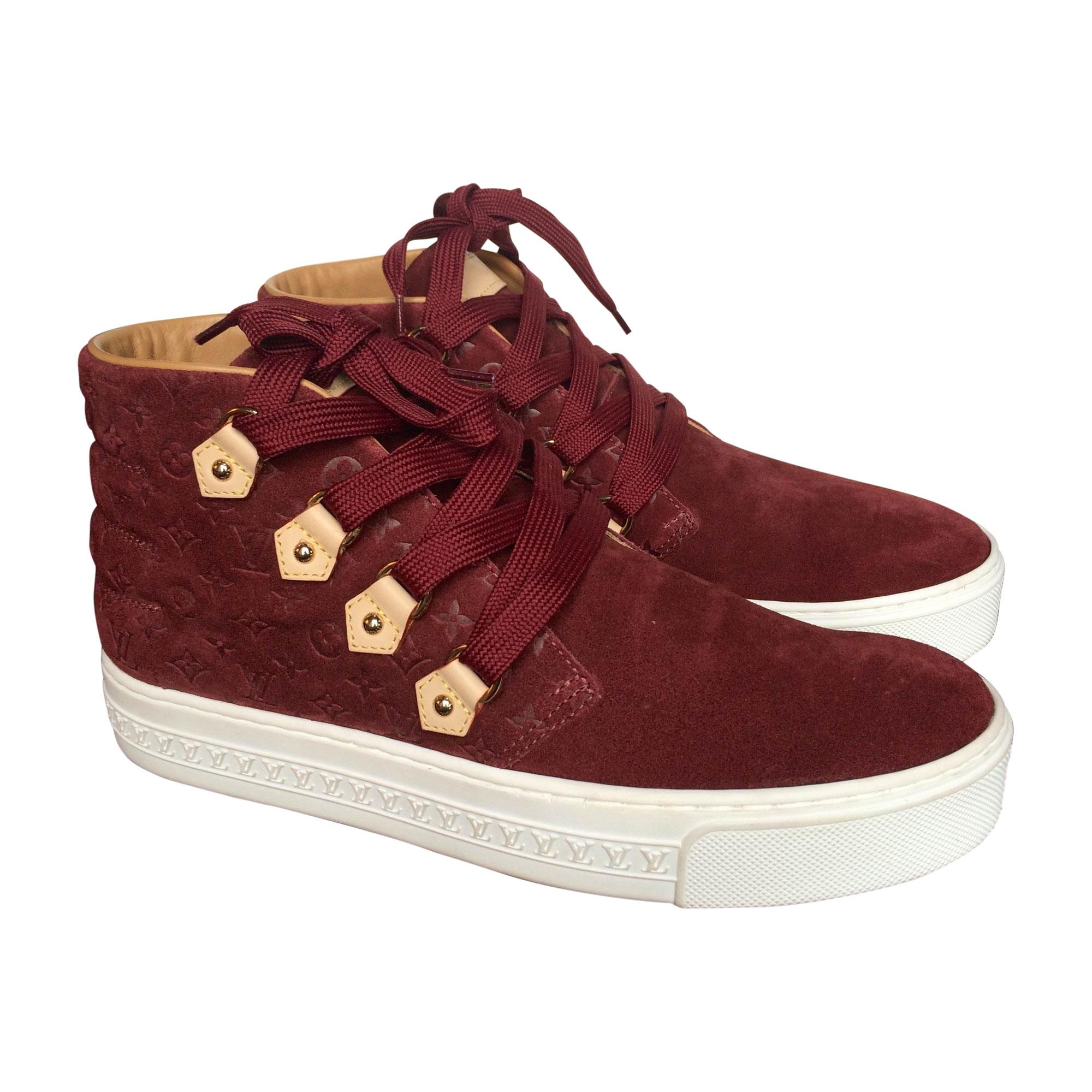 Baskets LOUIS VUITTON 35,5 rouge - 4500309 bd1167320a1