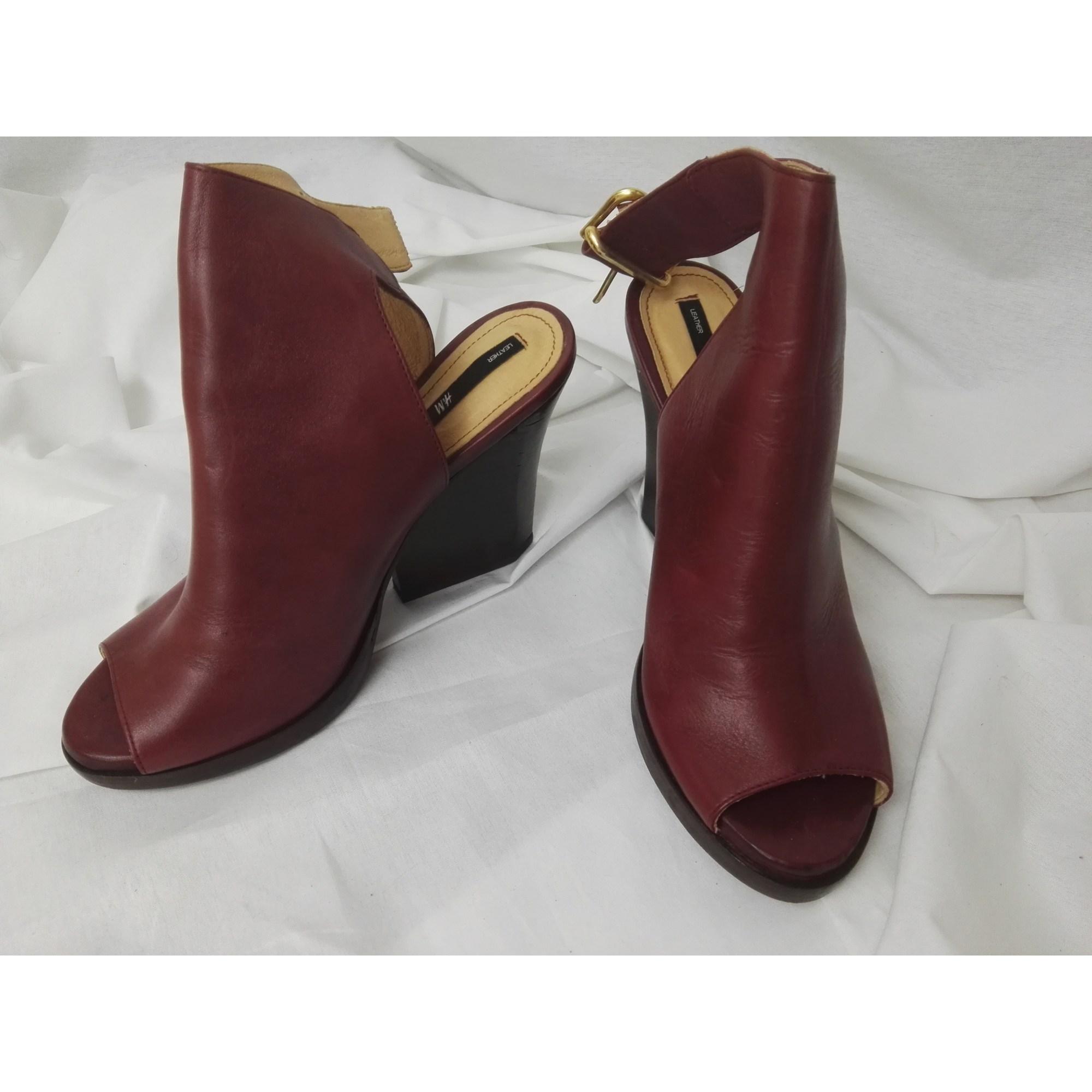 Bottines Low Boots A Talons H M 40 Rouge 4510826
