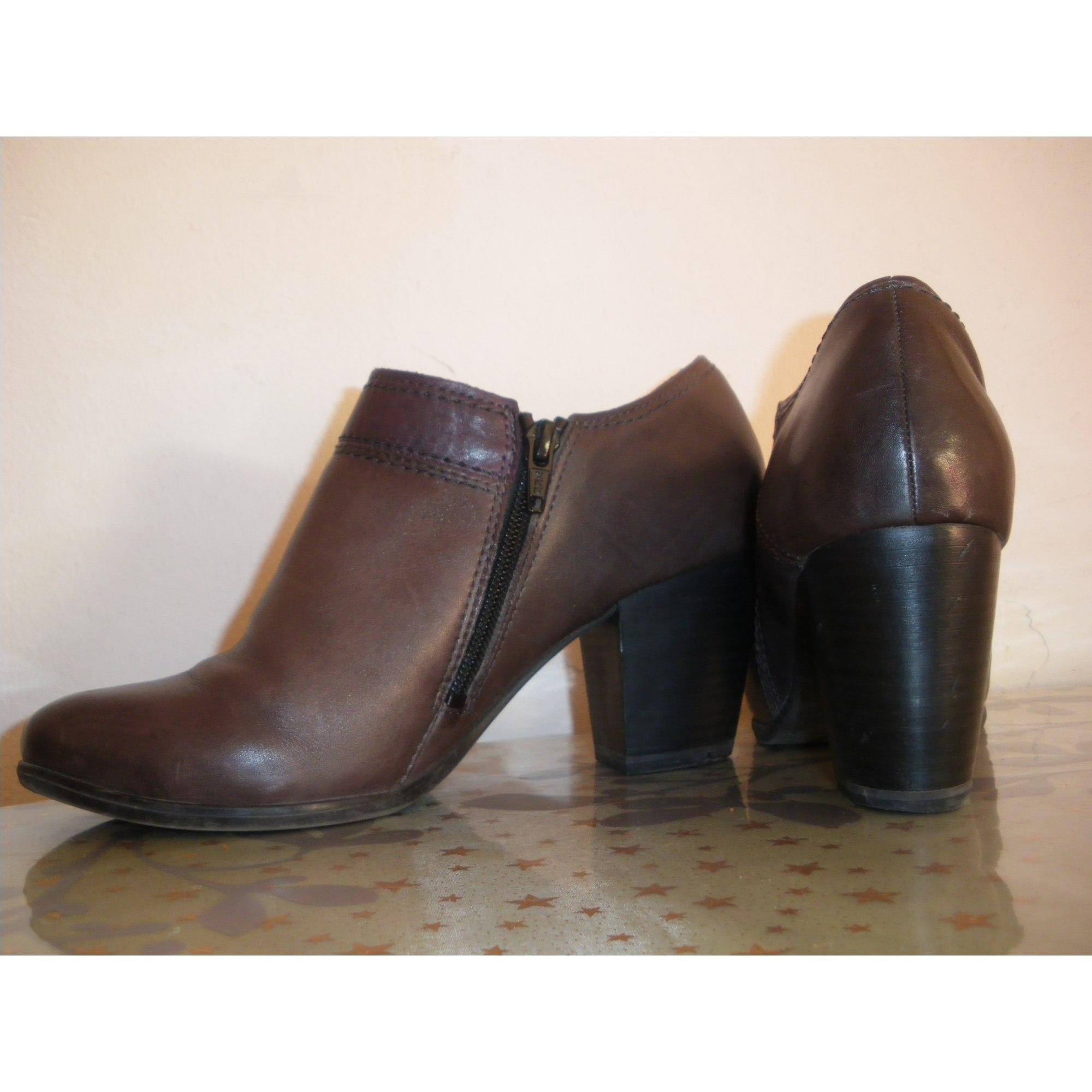 c41f5bfe544 Bottines   low boots à talons MARCO TOZZI 38 gris - 4517822