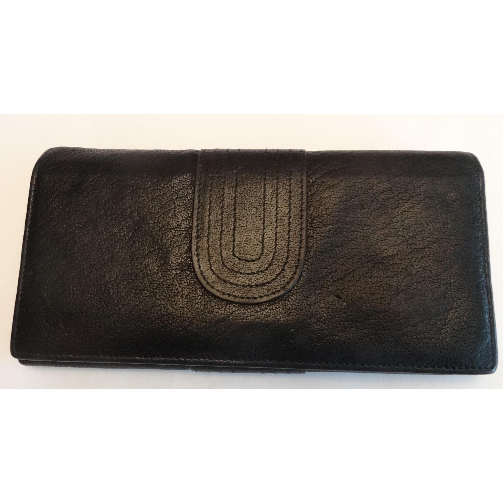 Portefeuille BRONTIBAY cuir noir