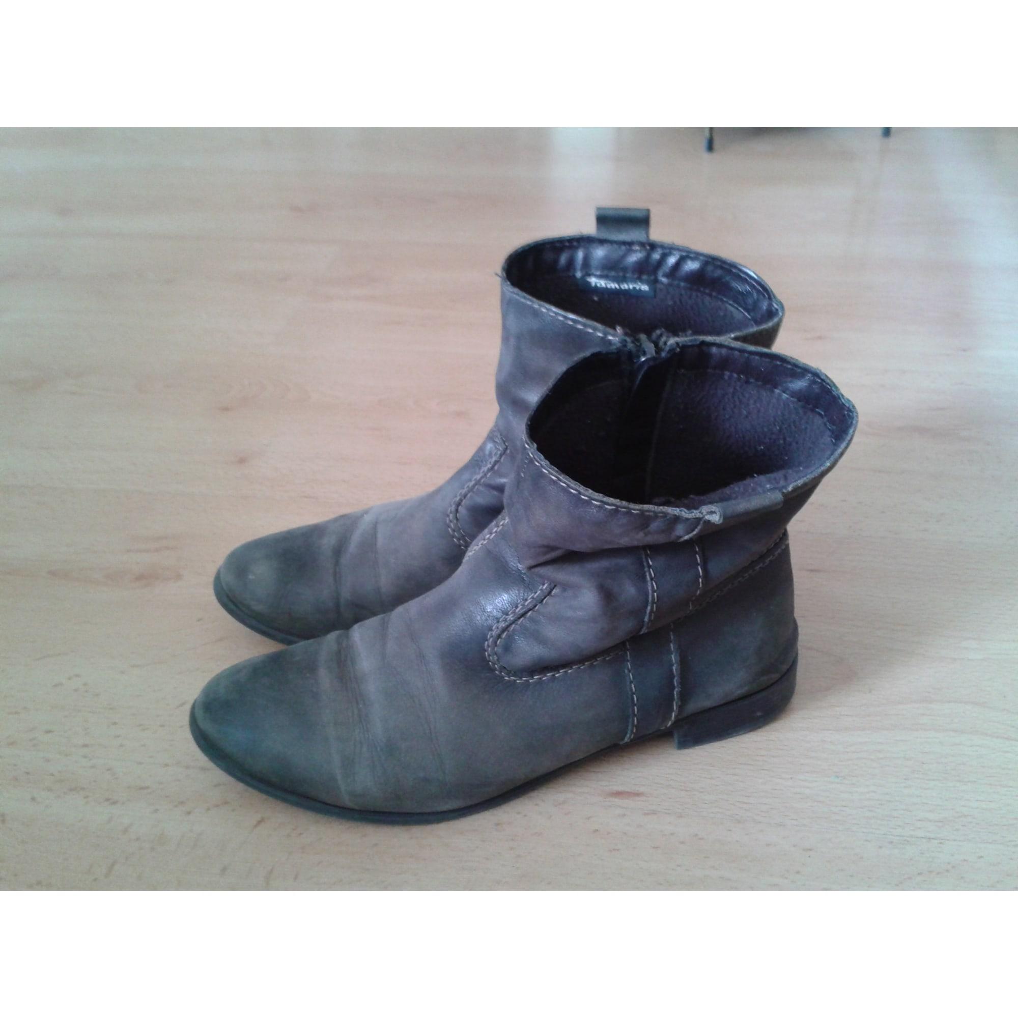 Bottines & low boots plates TAMARIS Marron