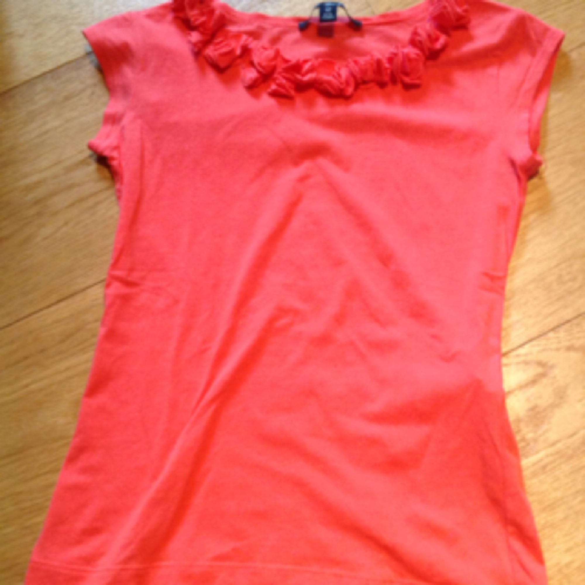 Top, Tee-shirt LILI GAUFRETTE coton orange 11-12 ans