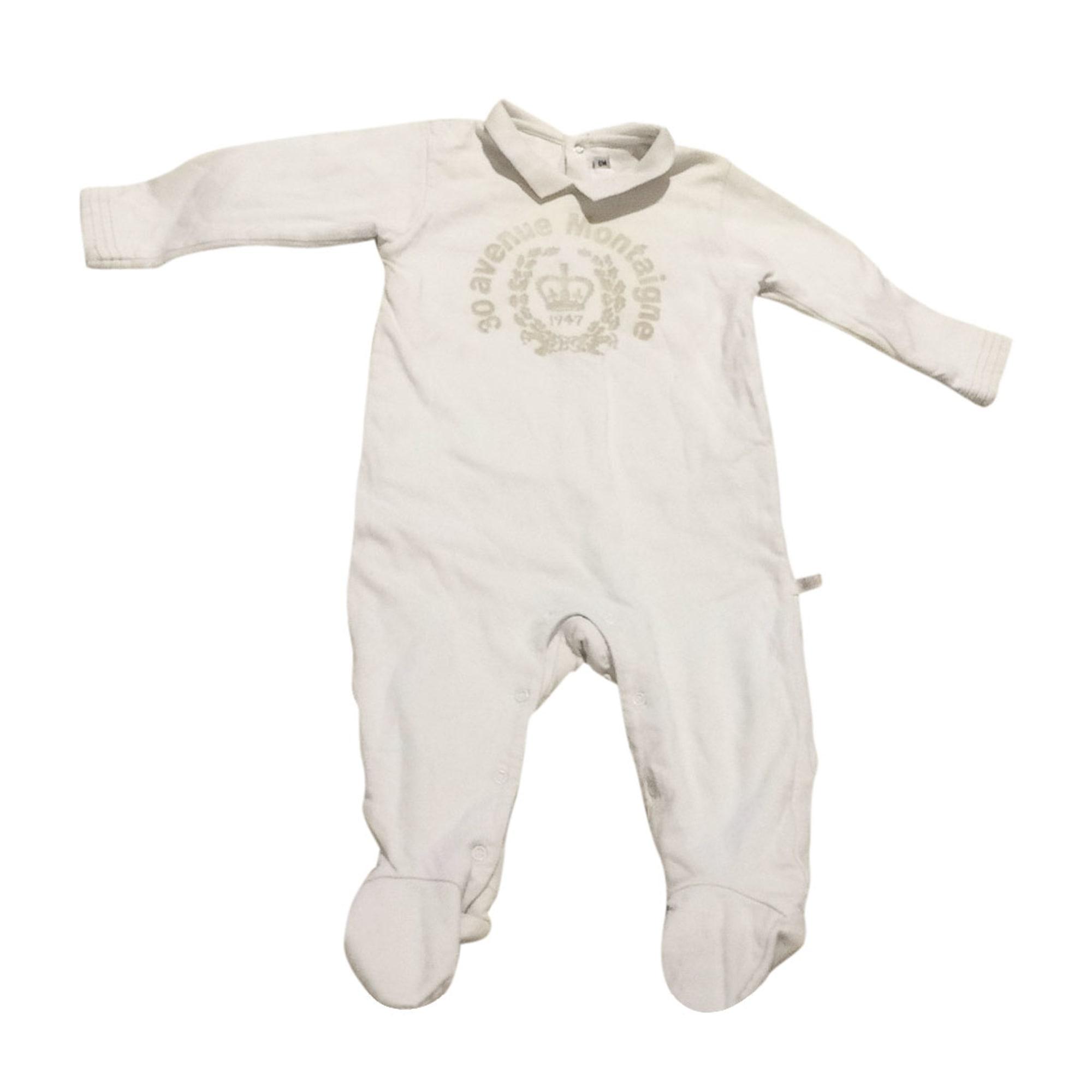 Pyjama BABY DIOR Blanc, blanc cassé, écru
