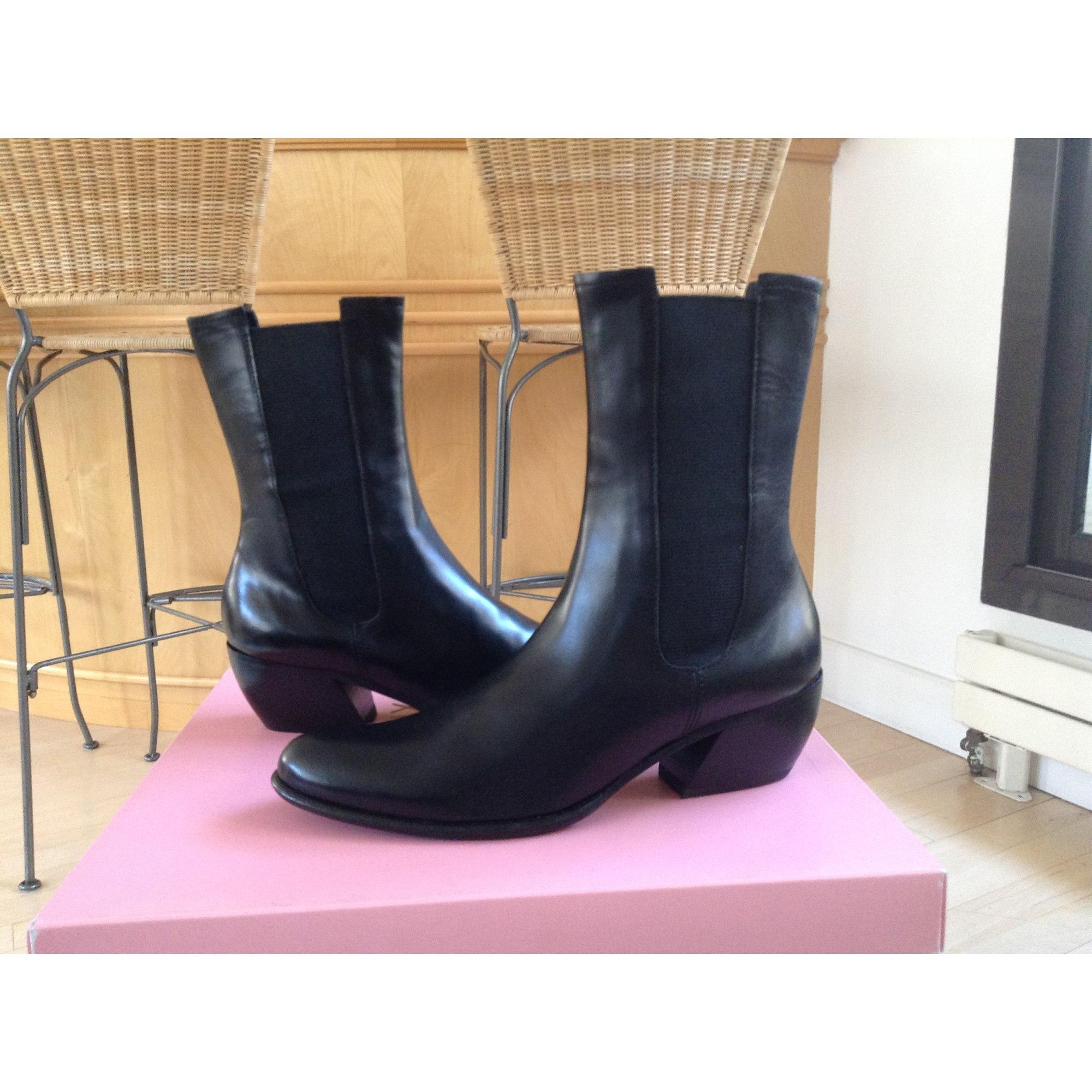 Bottines & low boots à talons CDOUX cuir noir 35,5