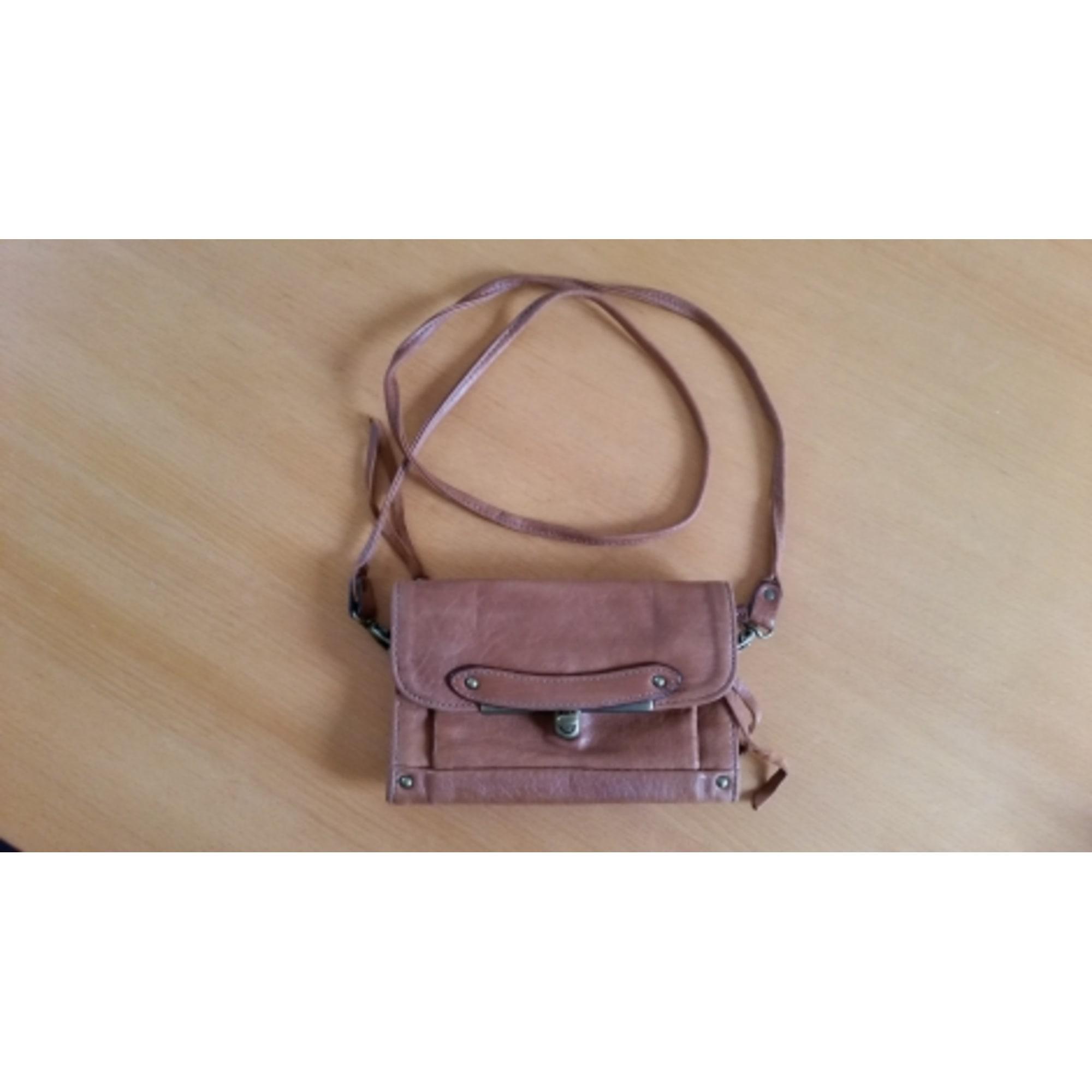 7b4364177c Sac pochette en cuir ABACO beige vendu par Lily763 - 4626806