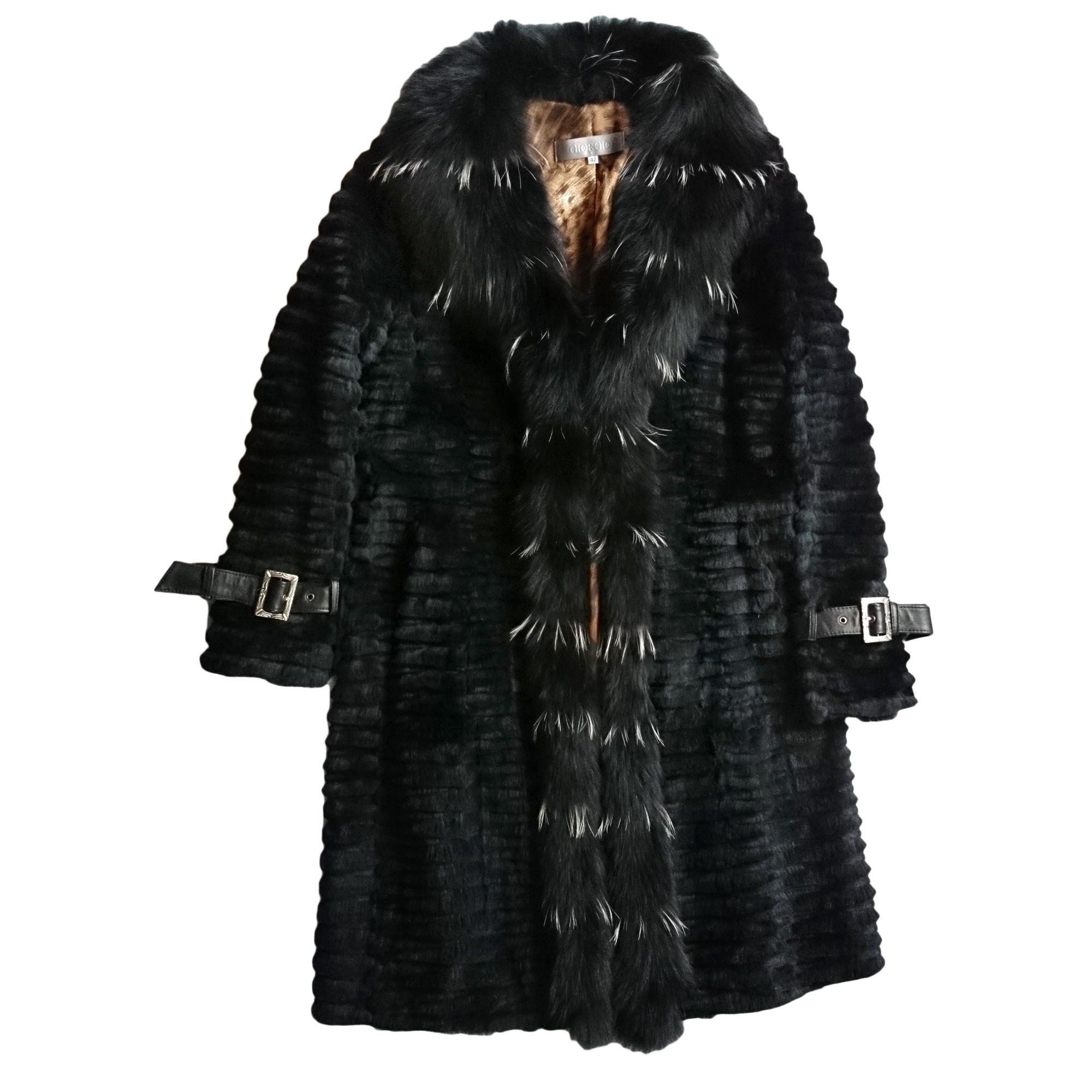 6b3826d00615f Manteau en fourrure GIORGIO 42 (L XL, T4) noir vendu par Aliouchka ...