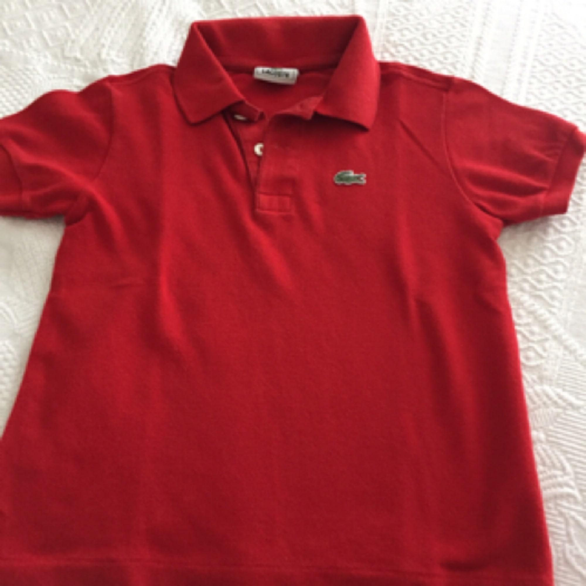 f7c098272f Polo LACOSTE 5-6 ans rouge vendu par Angelix70 - 4629018