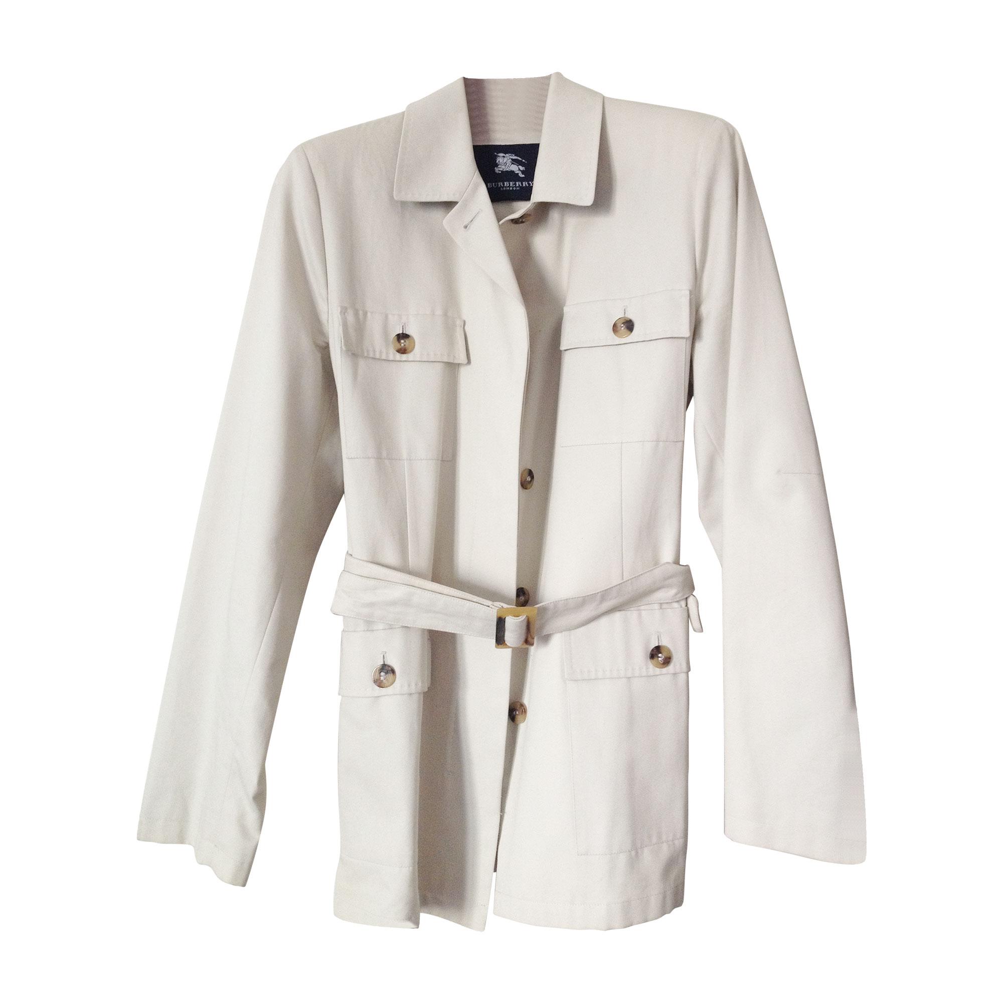 Saharienne BURBERRY 40 (L, T3) blanc vendu par Zaz 2224653 - 4668754 9aadd79e6c5