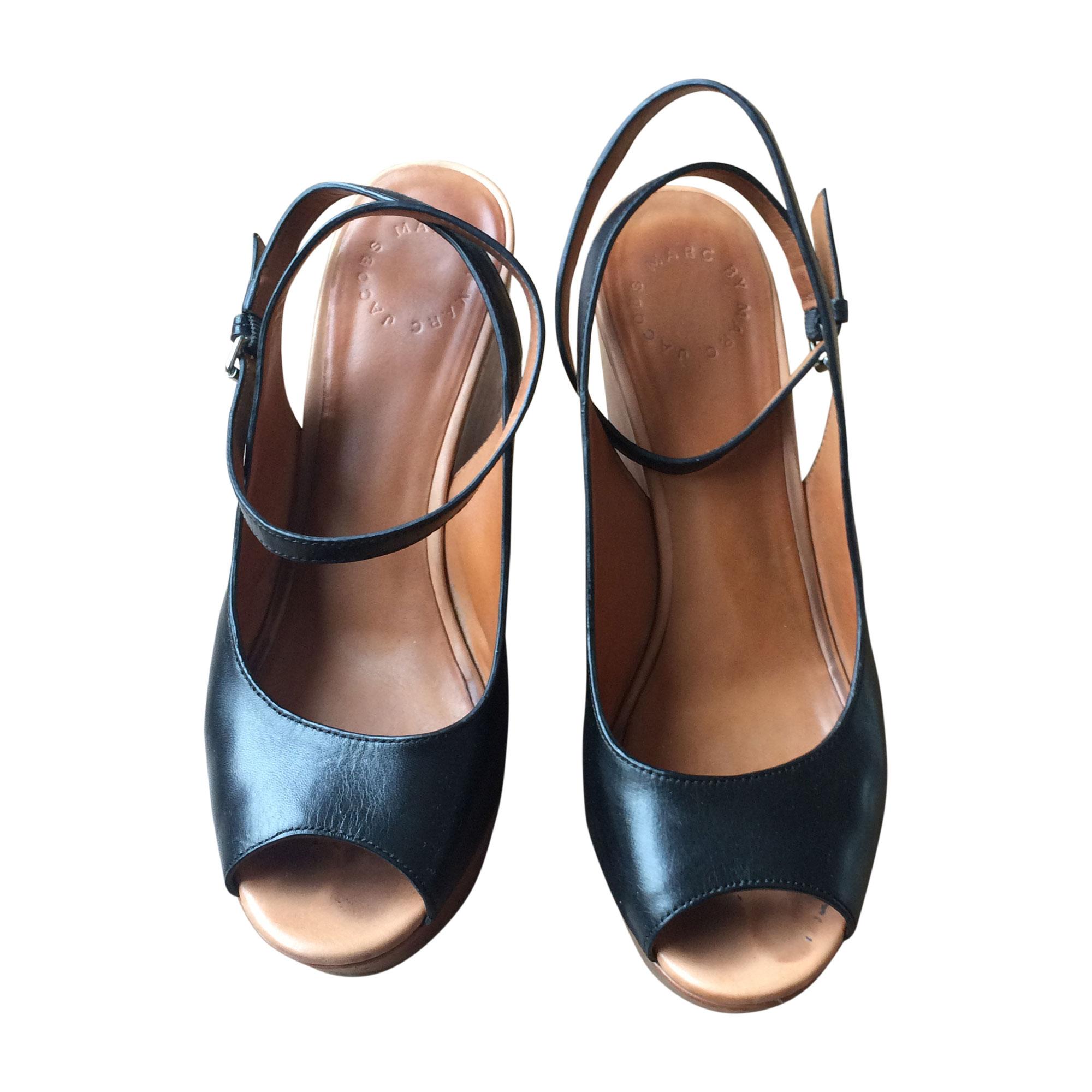 Sandales compensées MARC BY MARC JACOBS 38 noir vendu par Verniere ... b09439ad789