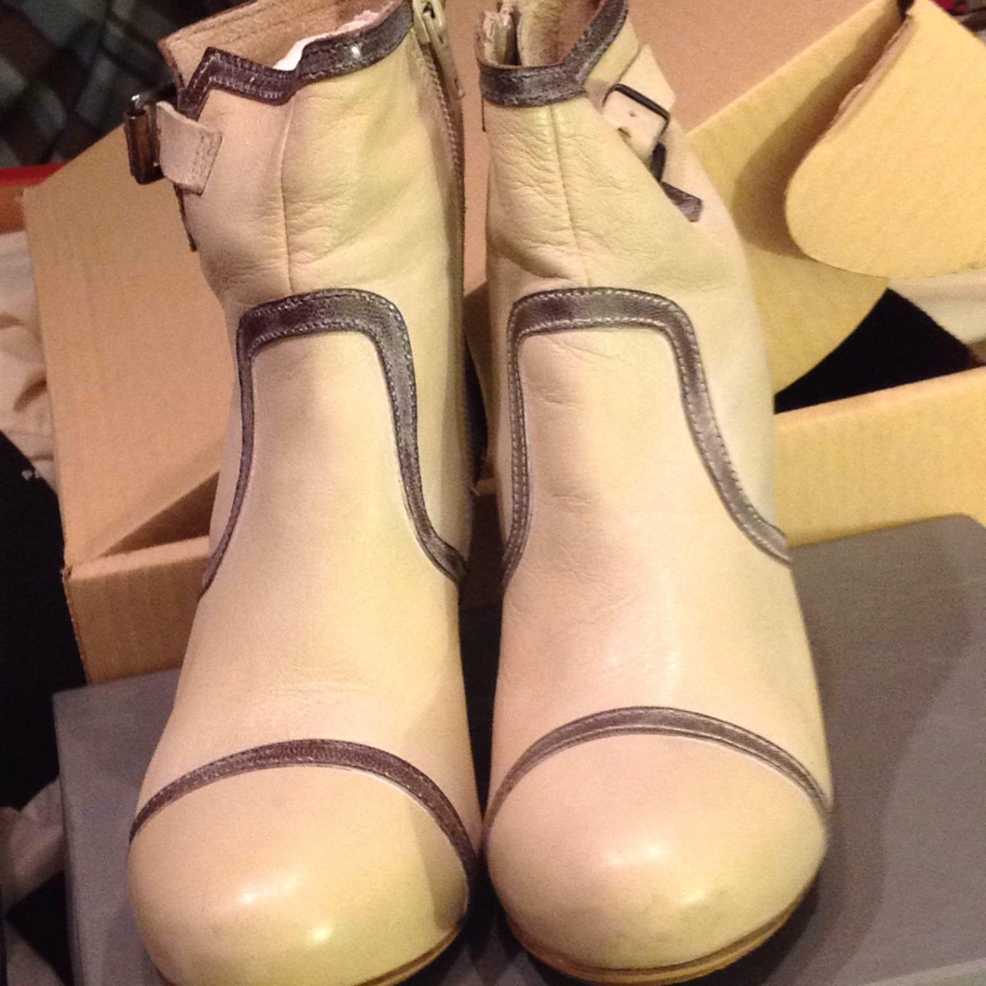 9bdf6f5e9ef08 Bottines   low boots à talons MURATTI 37 beige vendu par ...