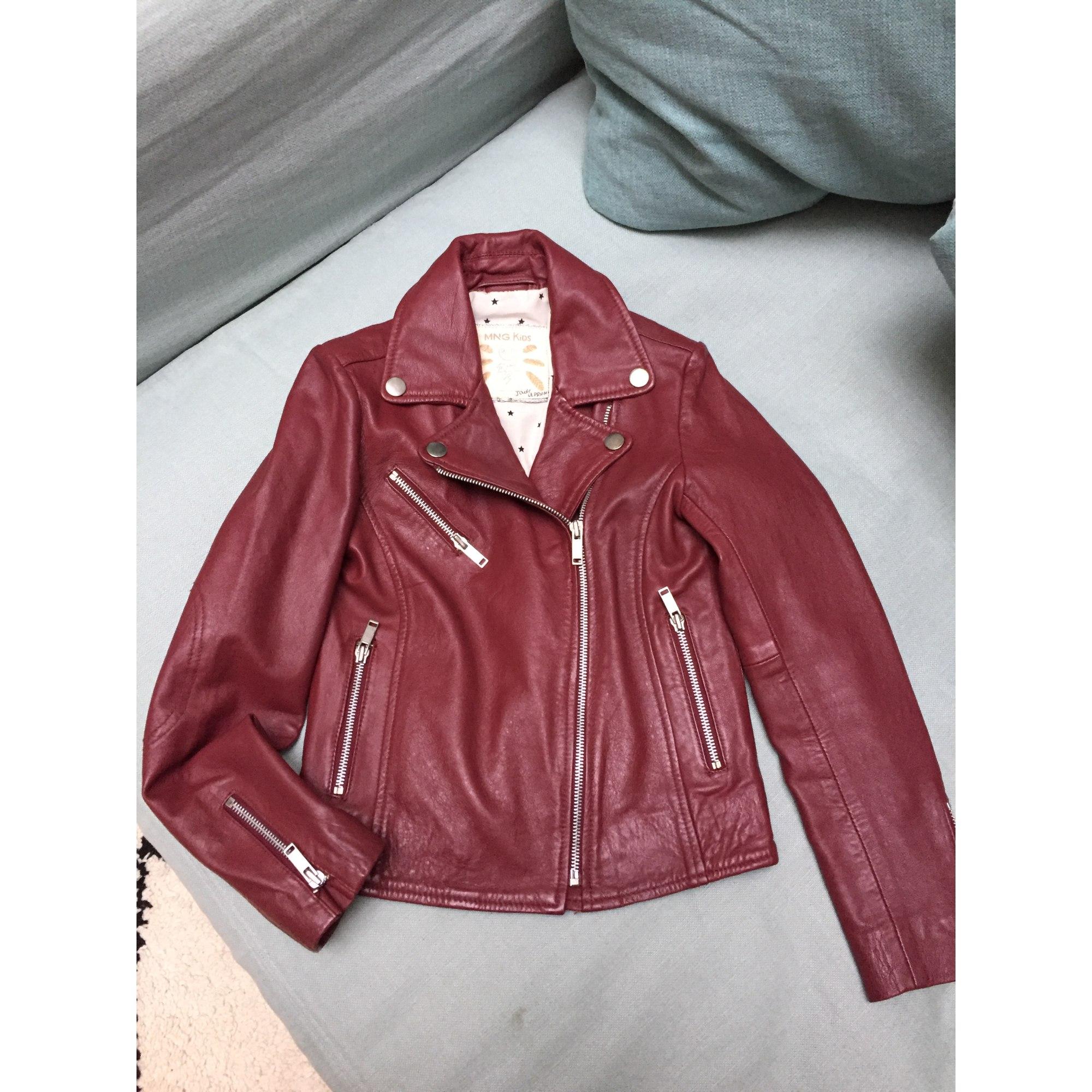 466d0c7a159ca Blouson en cuir MANGO KIDS 9-10 ans rouge vendu par Baby241 - 4686281
