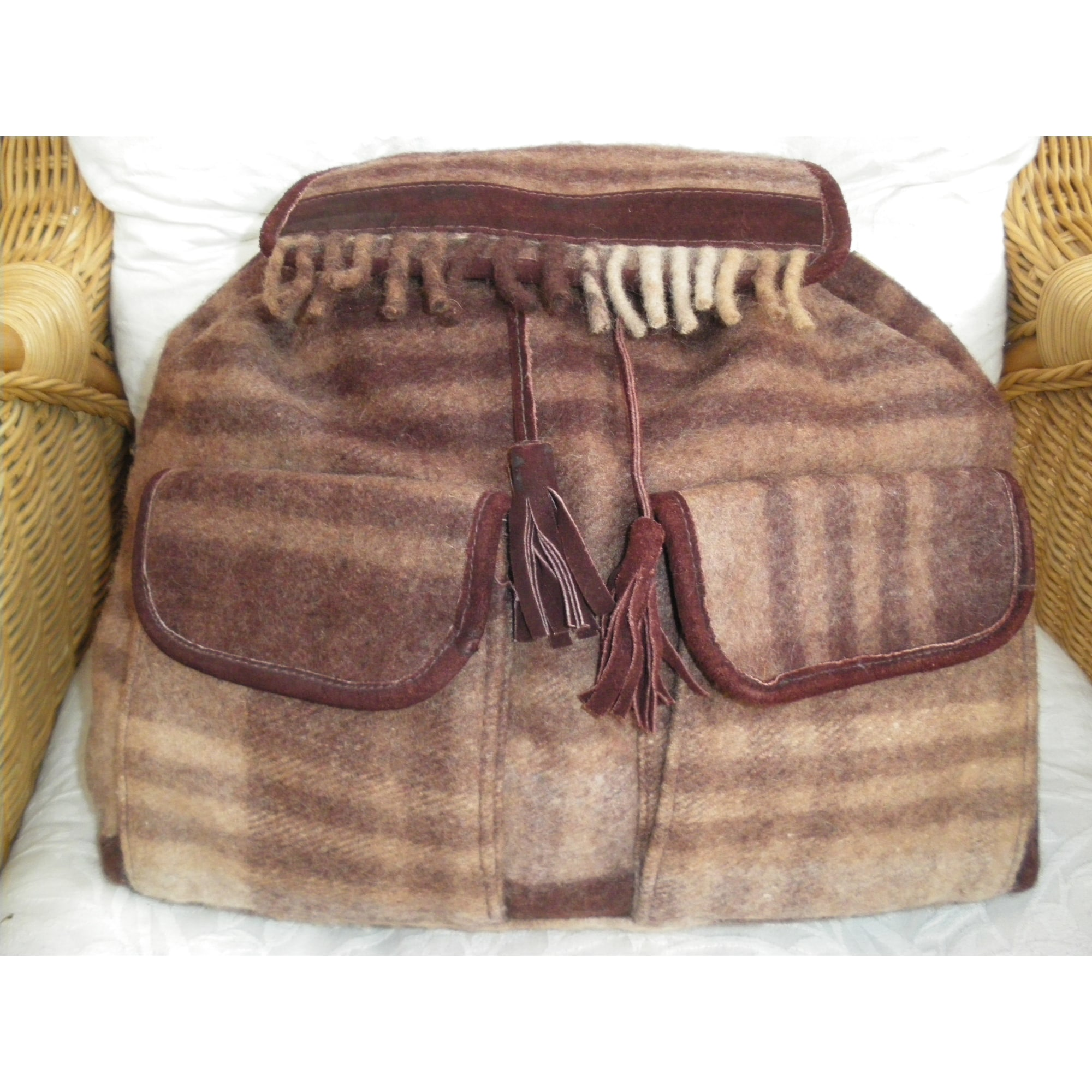 Sac à dos CACTUS laine multicolore