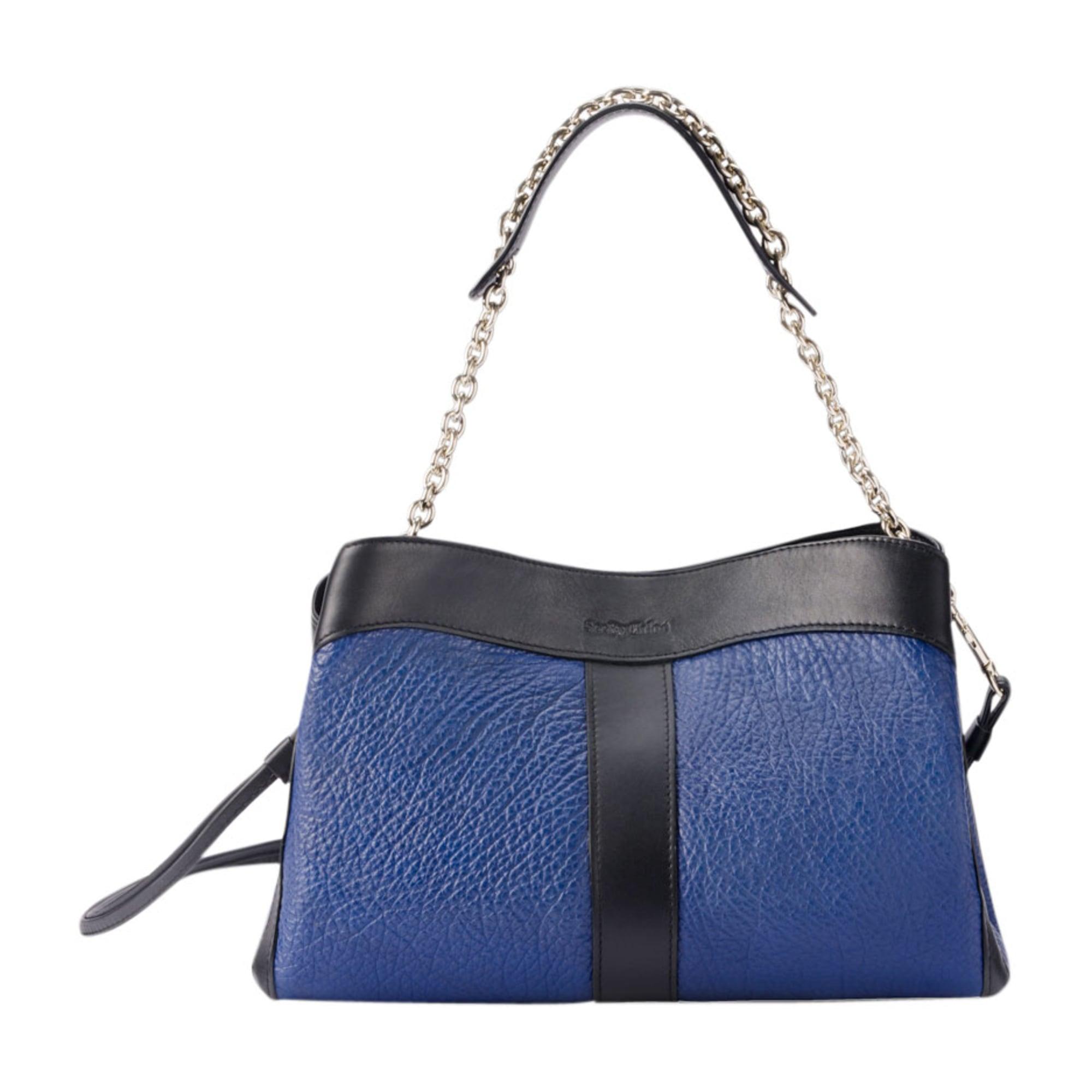 leather handbag see by chloe blue vendu par le vide dressing de la boutique le parc 4717471. Black Bedroom Furniture Sets. Home Design Ideas