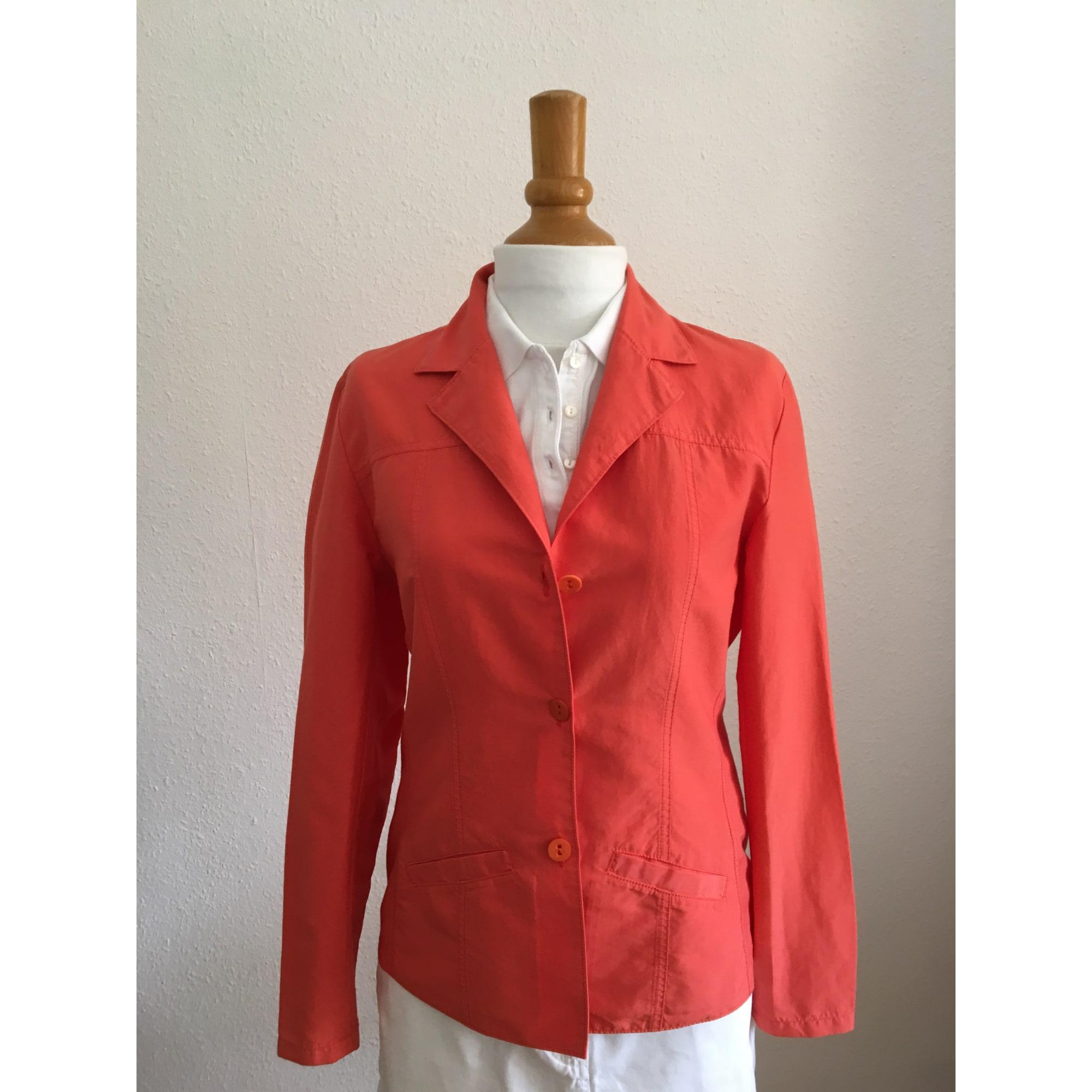Veste tailleur corail femme